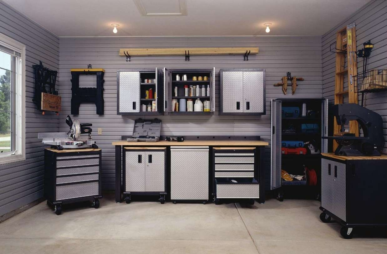 Decorations : Classic Garage Idea With Brick Wall Accents Also Within 2018 Garage Wall Accents (View 8 of 15)