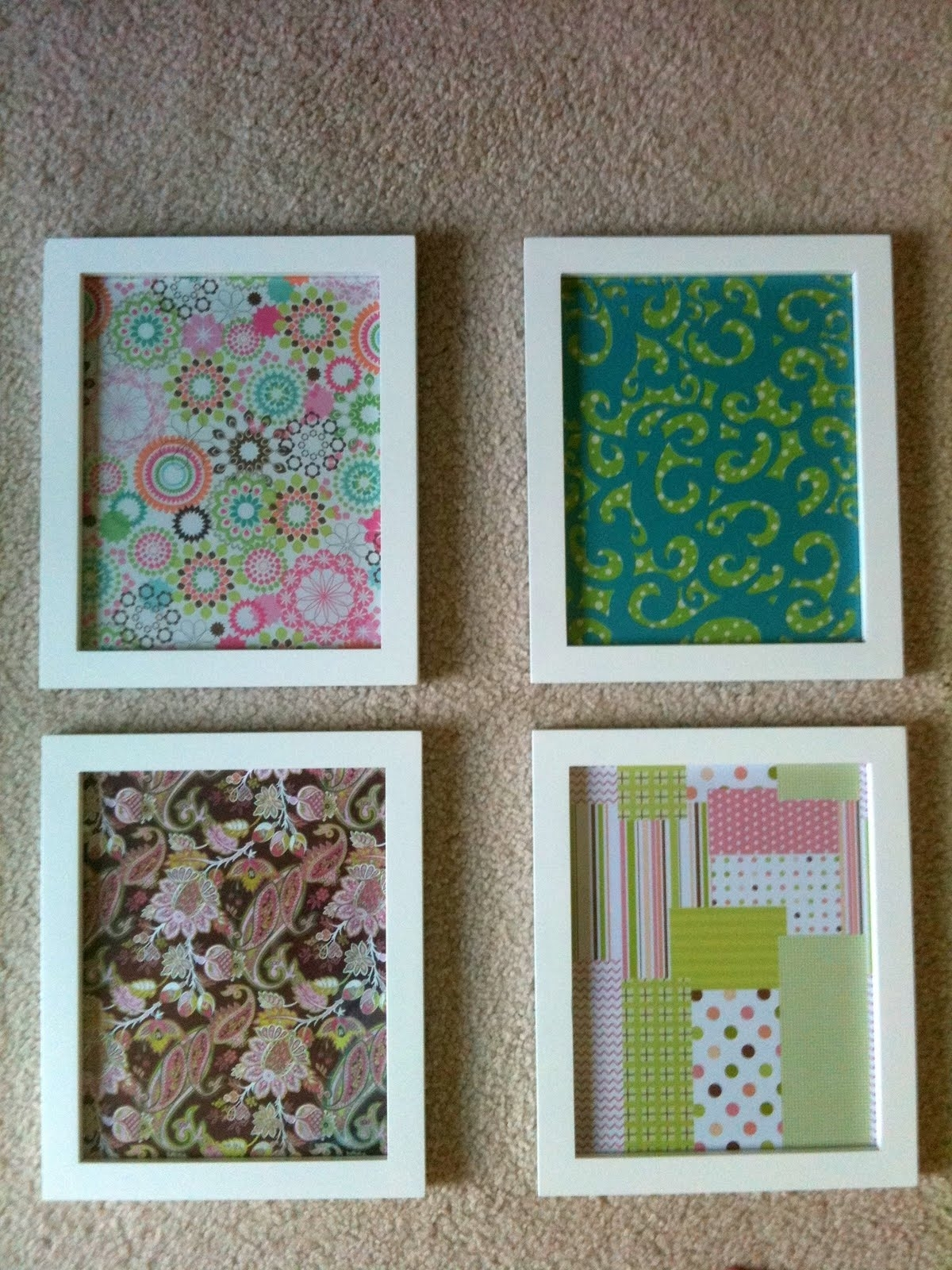 Decorations. Diy Wall Decor Scrapbook Paper: Diy Artwork Wall with Newest Floral Fabric Wall Art