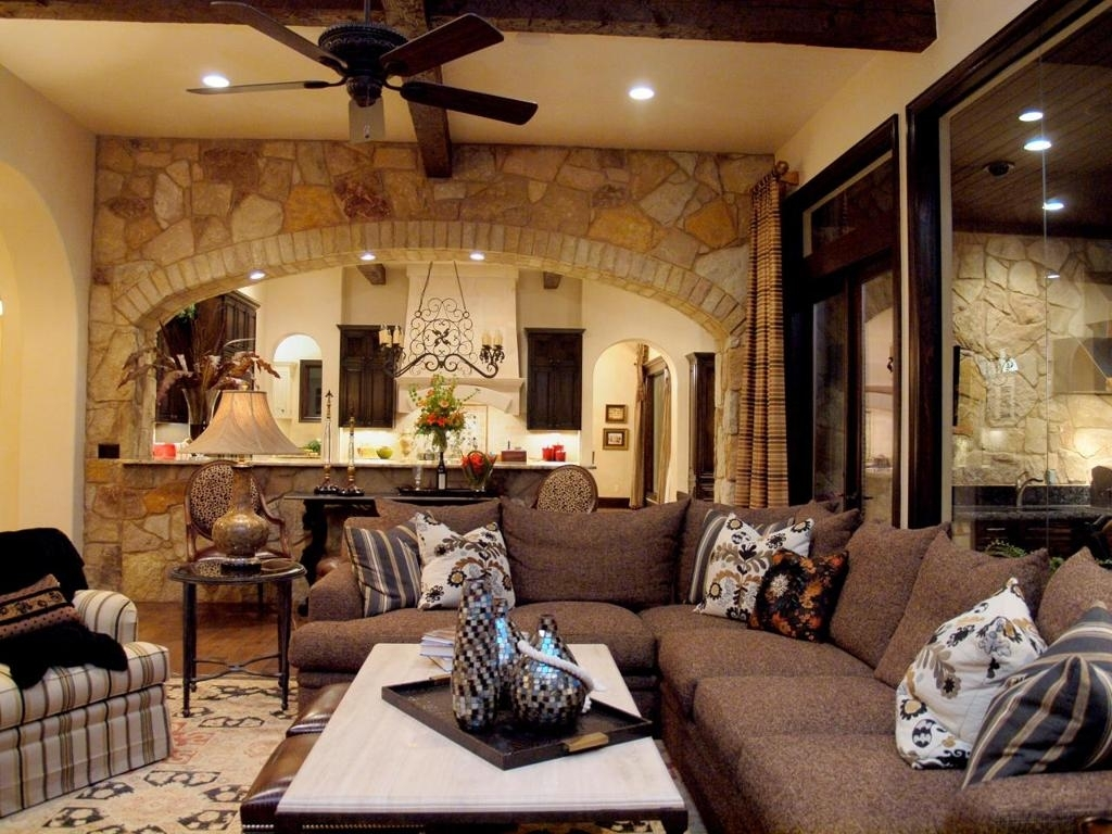 Decorations : Favorable Natural Brick And Stone Living Room Accent In Most Popular Wall Accents For L Shaped Room (View 7 of 15)