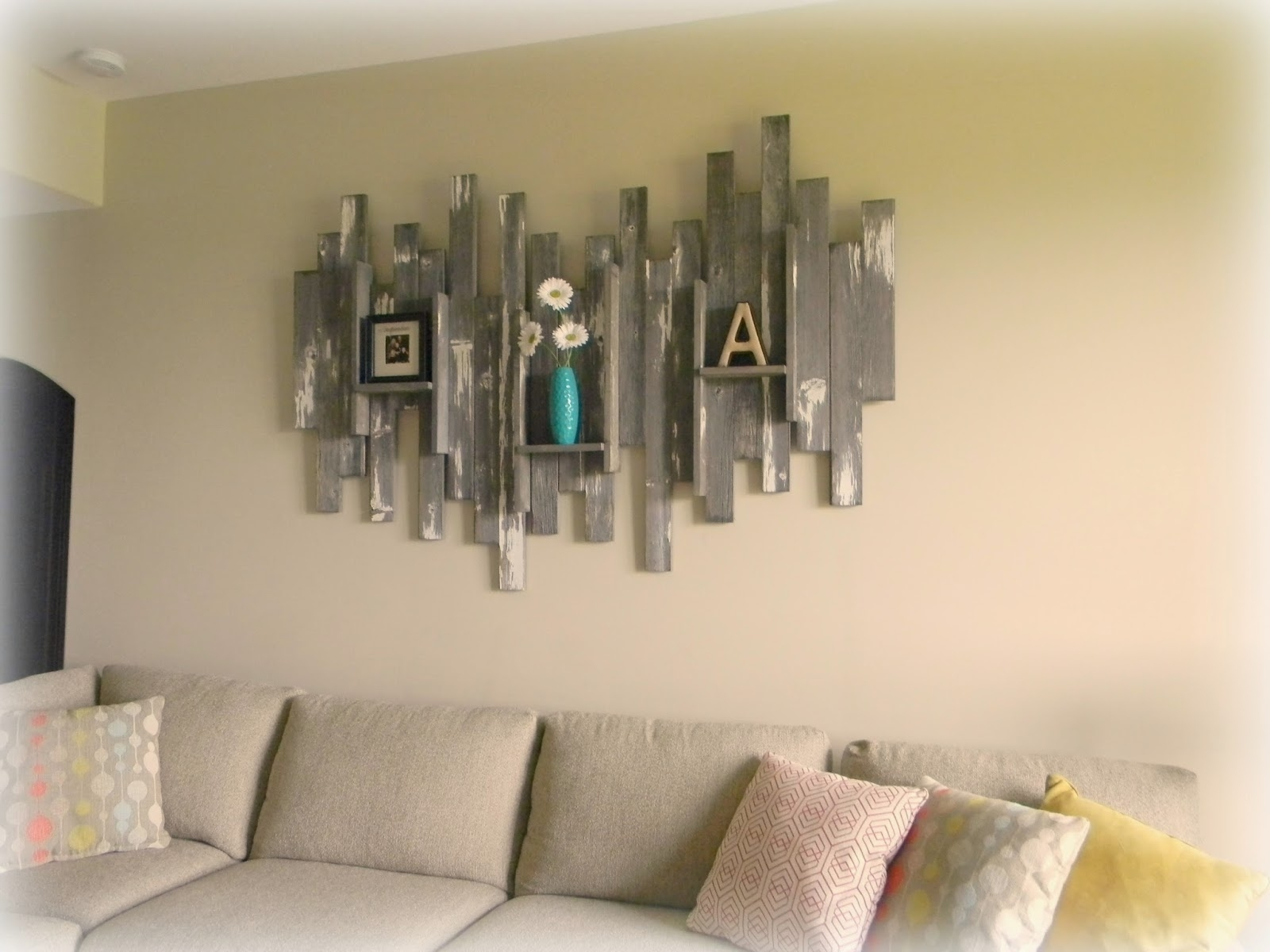 Decorations. Modern Wall Decor Shelves Ideas: Wall Decor Shelves with regard to 2017 Rustic Fabric Wall Art