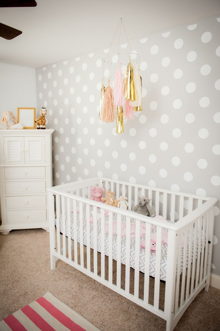 Decorations : Nice Looking Nursery Baby Room Design With White Regarding Recent Girl Nursery Wall Accents (View 7 of 15)