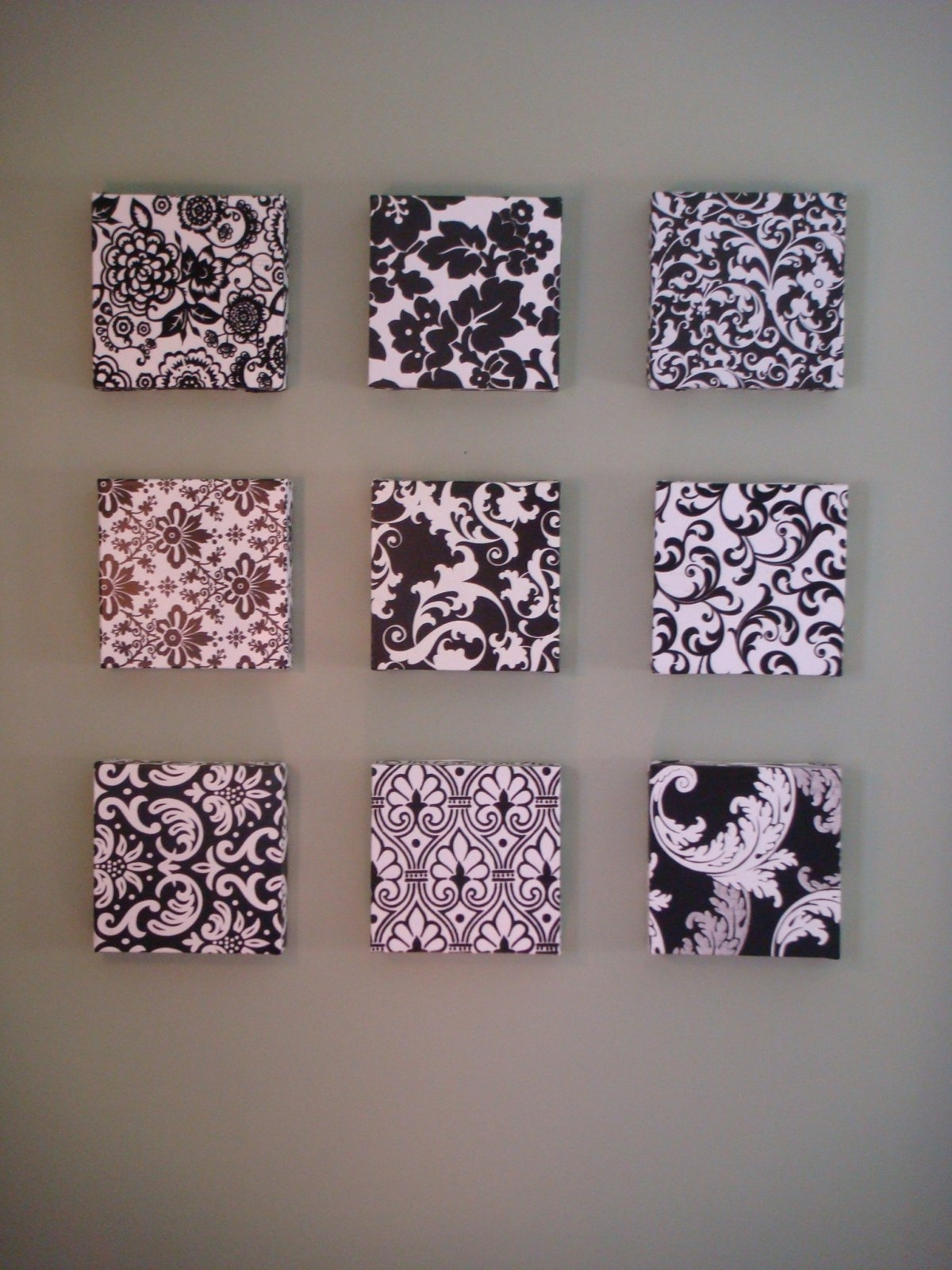 Decorations : Sweet Minimalist Black White Diy Wall Art Frames Throughout 2018 Damask Fabric Wall Art (View 6 of 15)