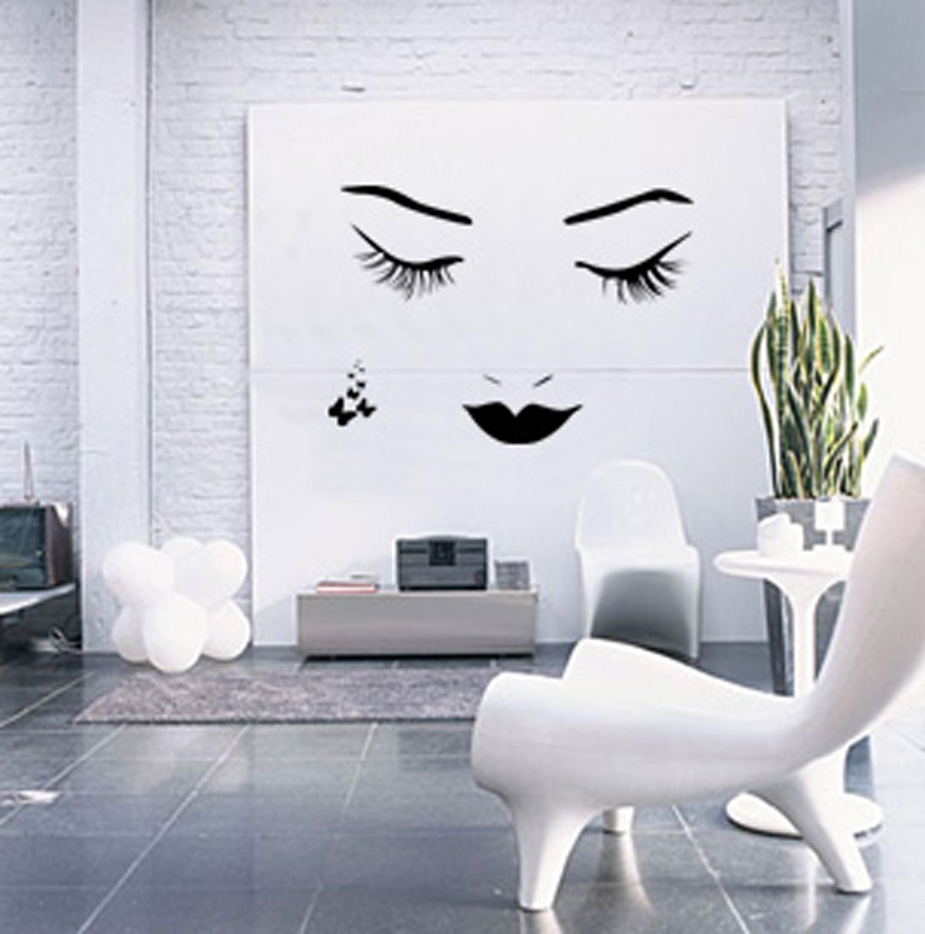 Decorations : White Rustic Interior Room Alongside White Pertaining To Most Recently Released Wall Accent Decals (View 7 of 15)