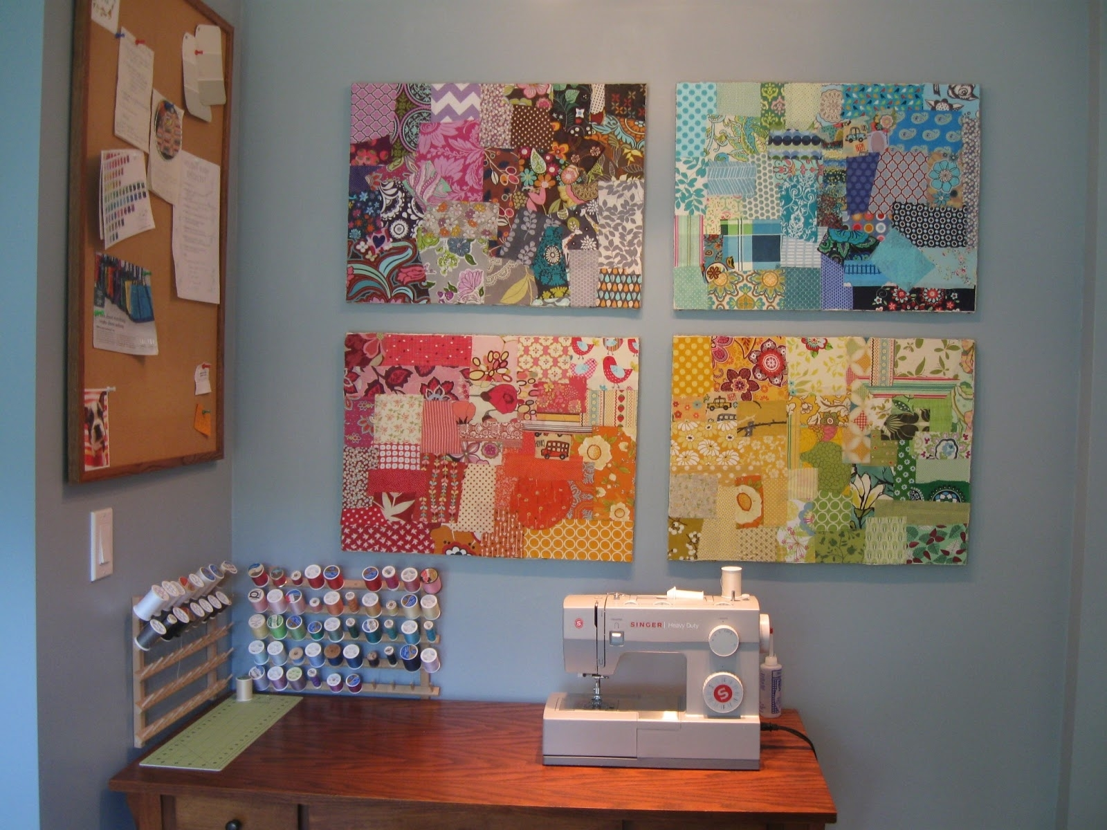 Decoupage Canvases {diy}. – Hello, Life With Latest Fabric Decoupage Wall Art (Gallery 3 of 15)