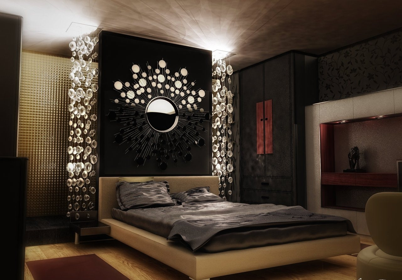 Delightful Interior Asian Bedroom Decor With Stylish Wall Decor within Latest Asian Wall Accents
