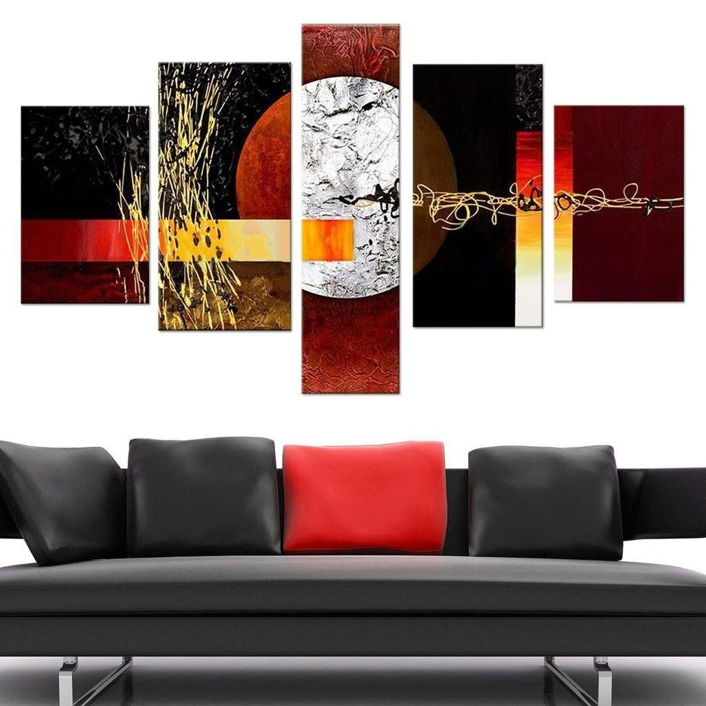 Designs : Japanese Tree 5 Piece Canvas Wall Art Set Also 5 Piece Throughout Recent Kohls 5 Piece Canvas Wall Art (Gallery 12 of 15)