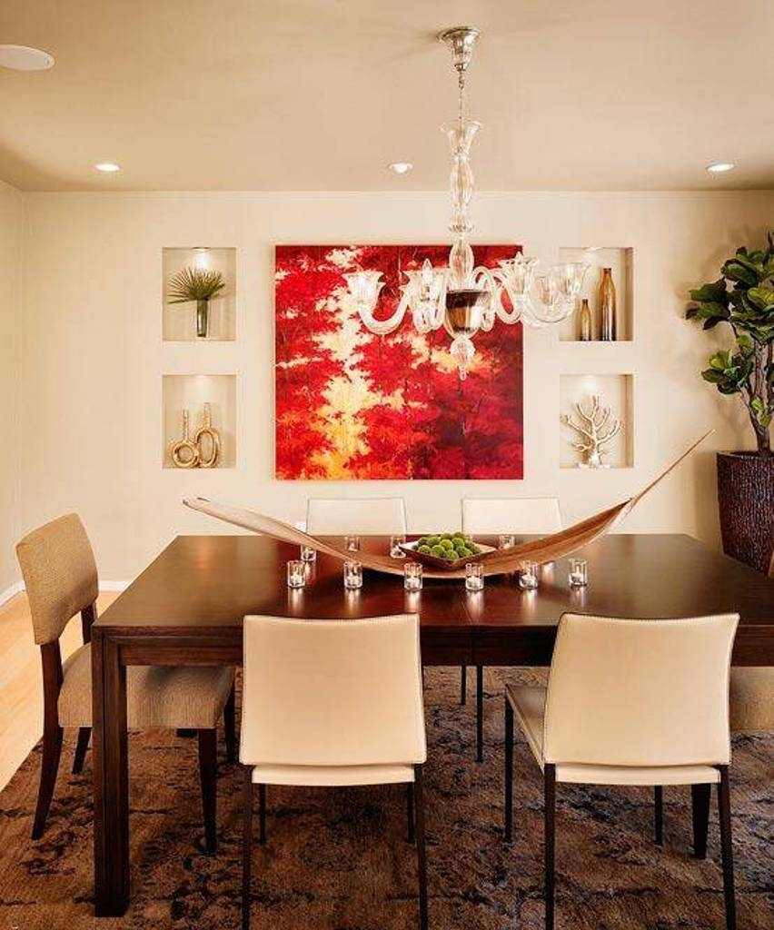 Dining Room : Dining Wall Decor Ideas Room Walls Red Decals Throughout Most Popular Wall Accents For Dining Room (View 7 of 15)