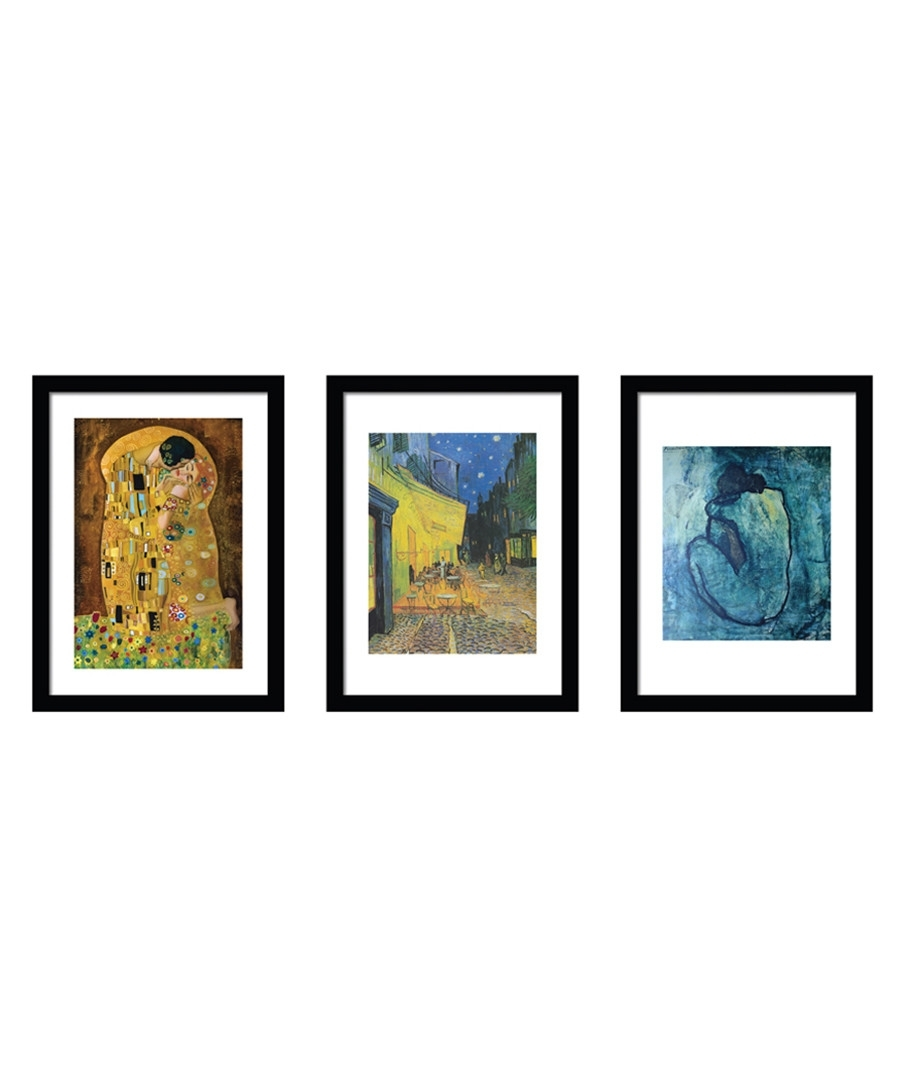Discount 3pc Famous Paintings Framed Prints | Secretsales With Regard To Best And Newest Famous Art Framed Prints (View 3 of 15)