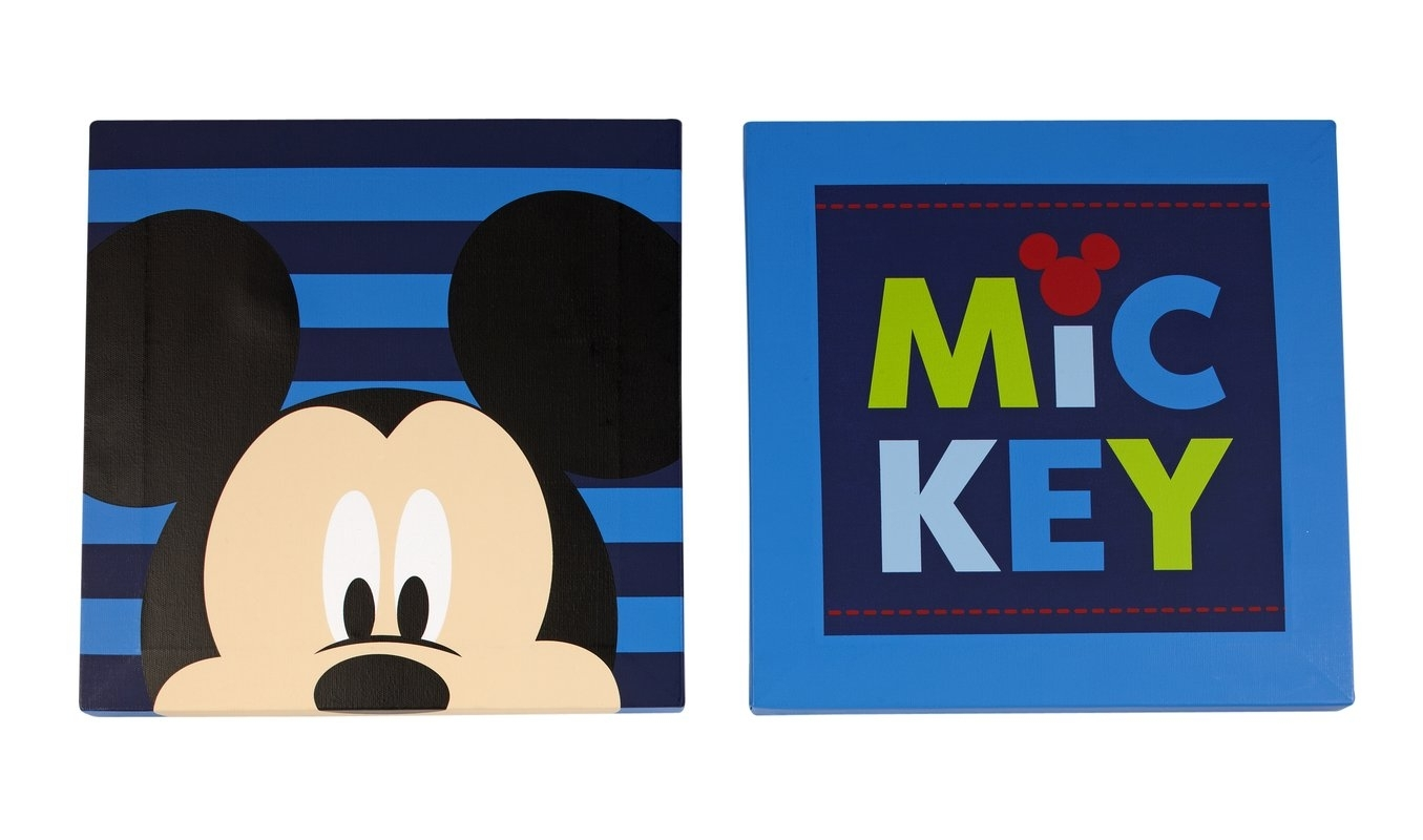 Disney Baby Mickey Mouse Canvas Art (set Of 2) & Reviews | Wayfair With 2018 Mickey Mouse Canvas Wall Art (Gallery 3 of 15)