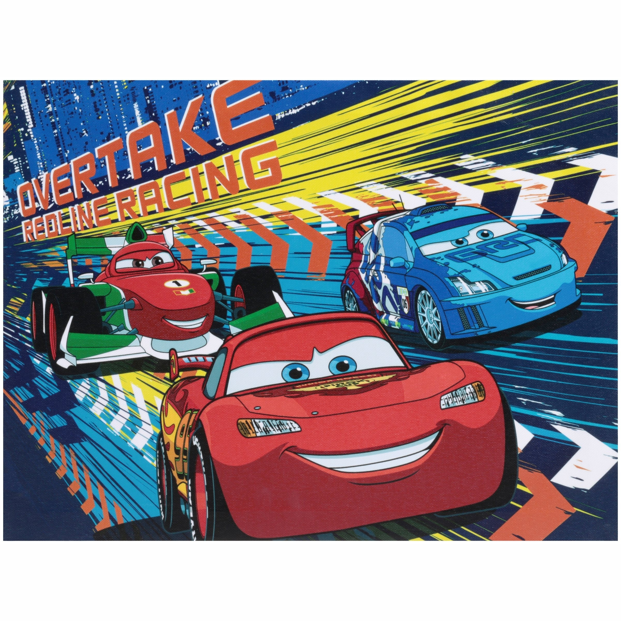 Disney Cars Light Up Canvas Wall Art With Bonus Led Lights Regarding Latest Cars Theme Canvas Wall Art (View 9 of 15)