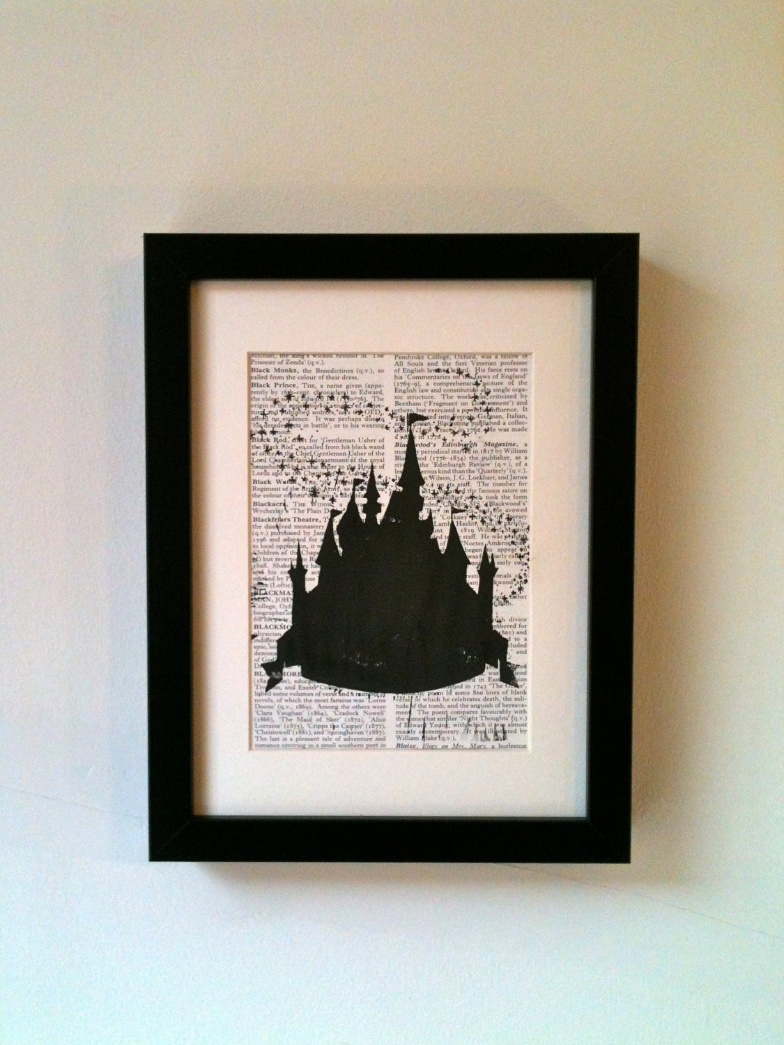 Disney Cinderella Fairy Castle, Inspired. This Linocut Print Would Regarding Most Popular Disney Framed Art Prints (Gallery 5 of 15)