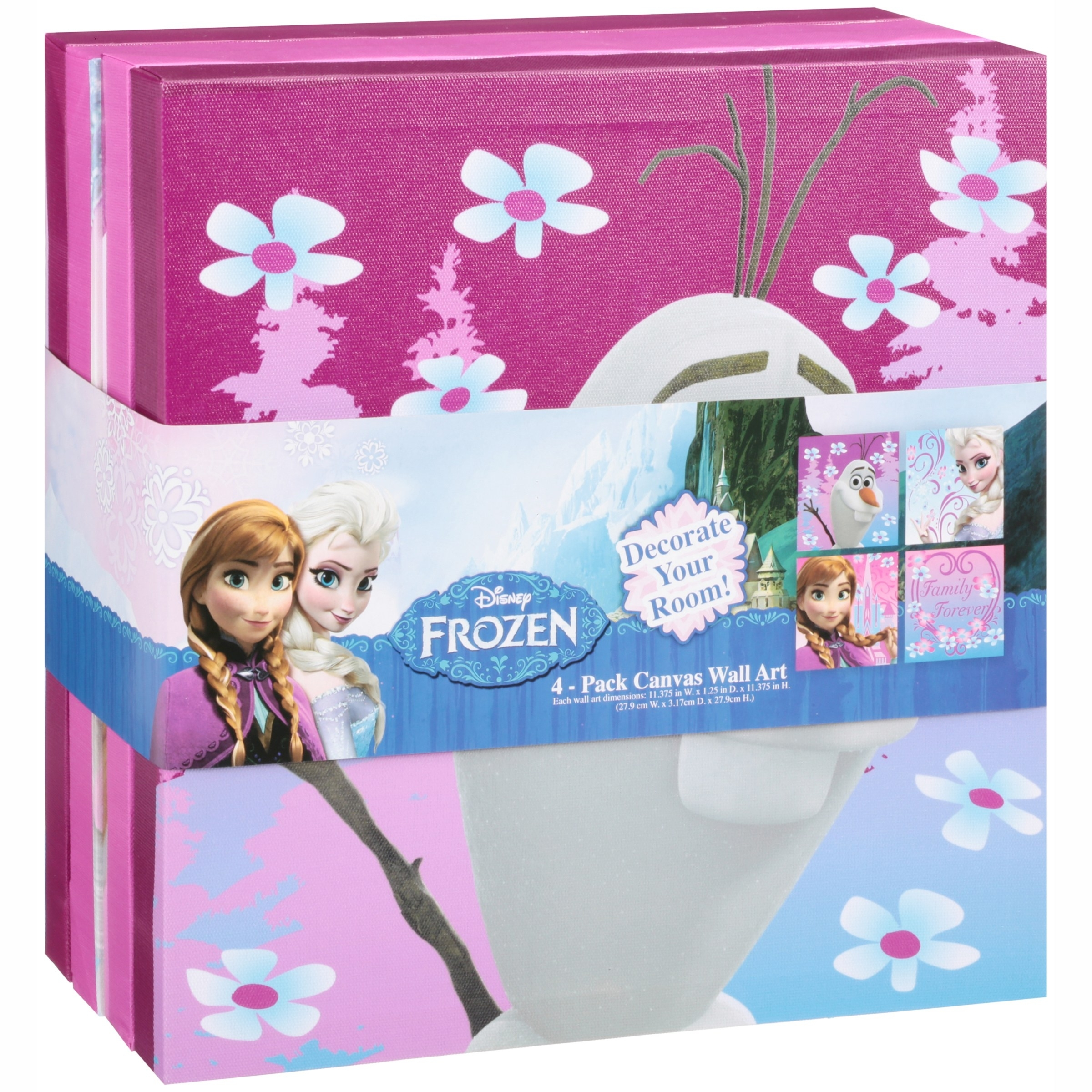 Disney Frozen Toy Organizer And Wall Art Value Bundle – Walmart Within 2017 Elsa Canvas Wall Art (View 6 of 15)
