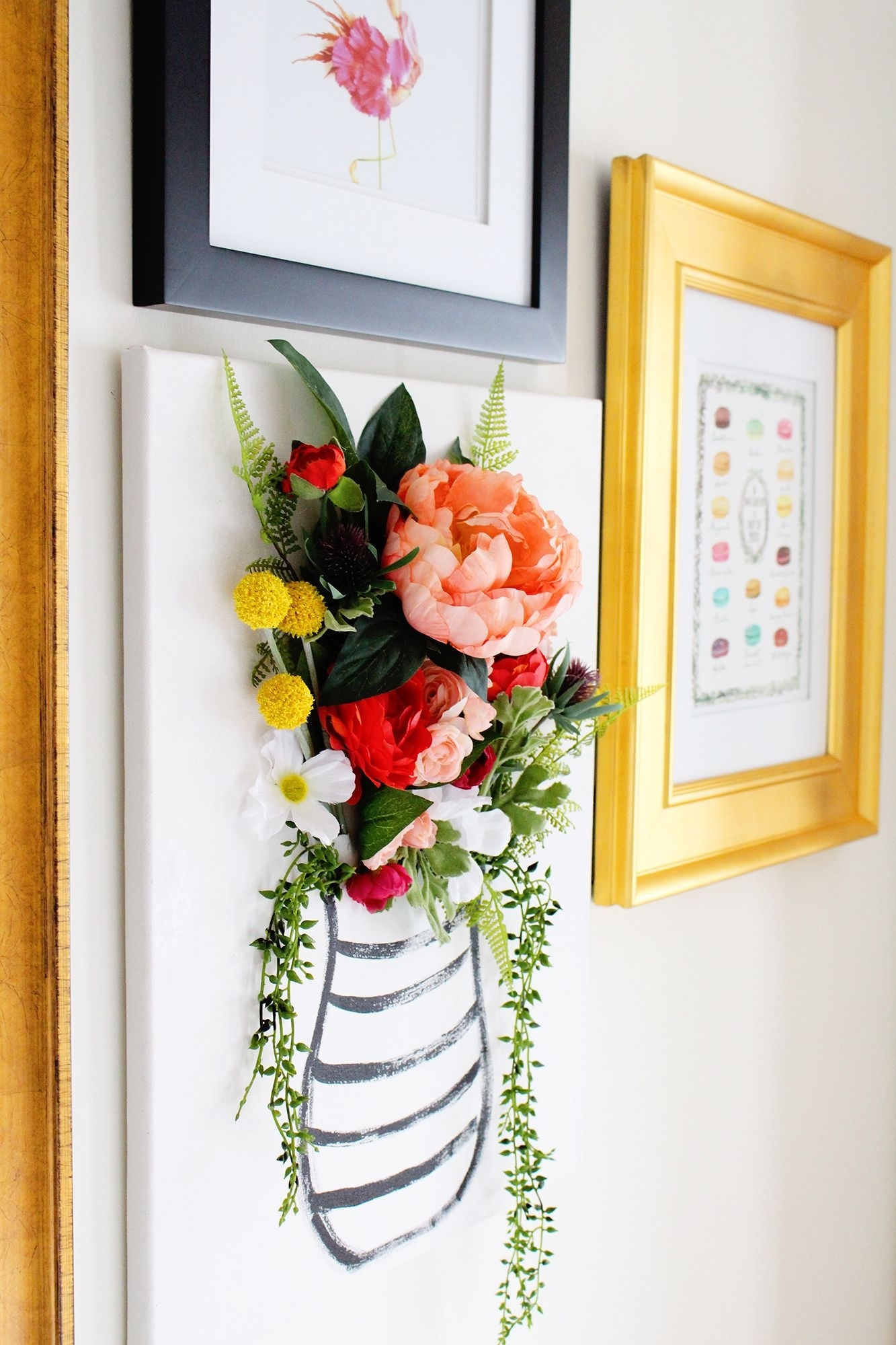 Diy 3 D Flower Canvas Art – Part 1 | Flower Canvas, Wall Pops And With Regard To Newest Canvas Wall Art Of Flowers (View 1 of 15)
