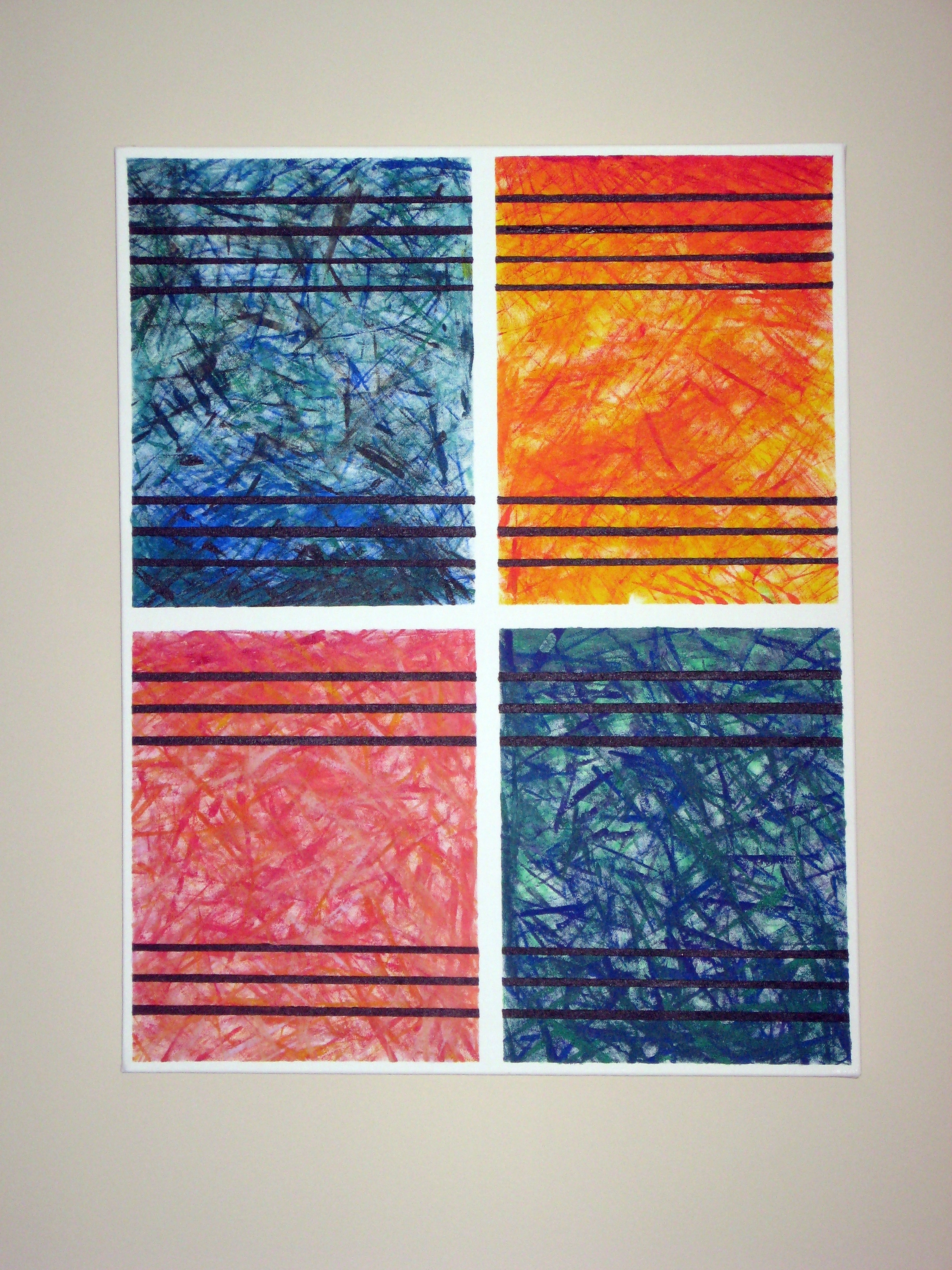 Diy Abstract Wall Art | Make Something Mondays! With Current Abstract Textile Wall Art (View 5 of 15)