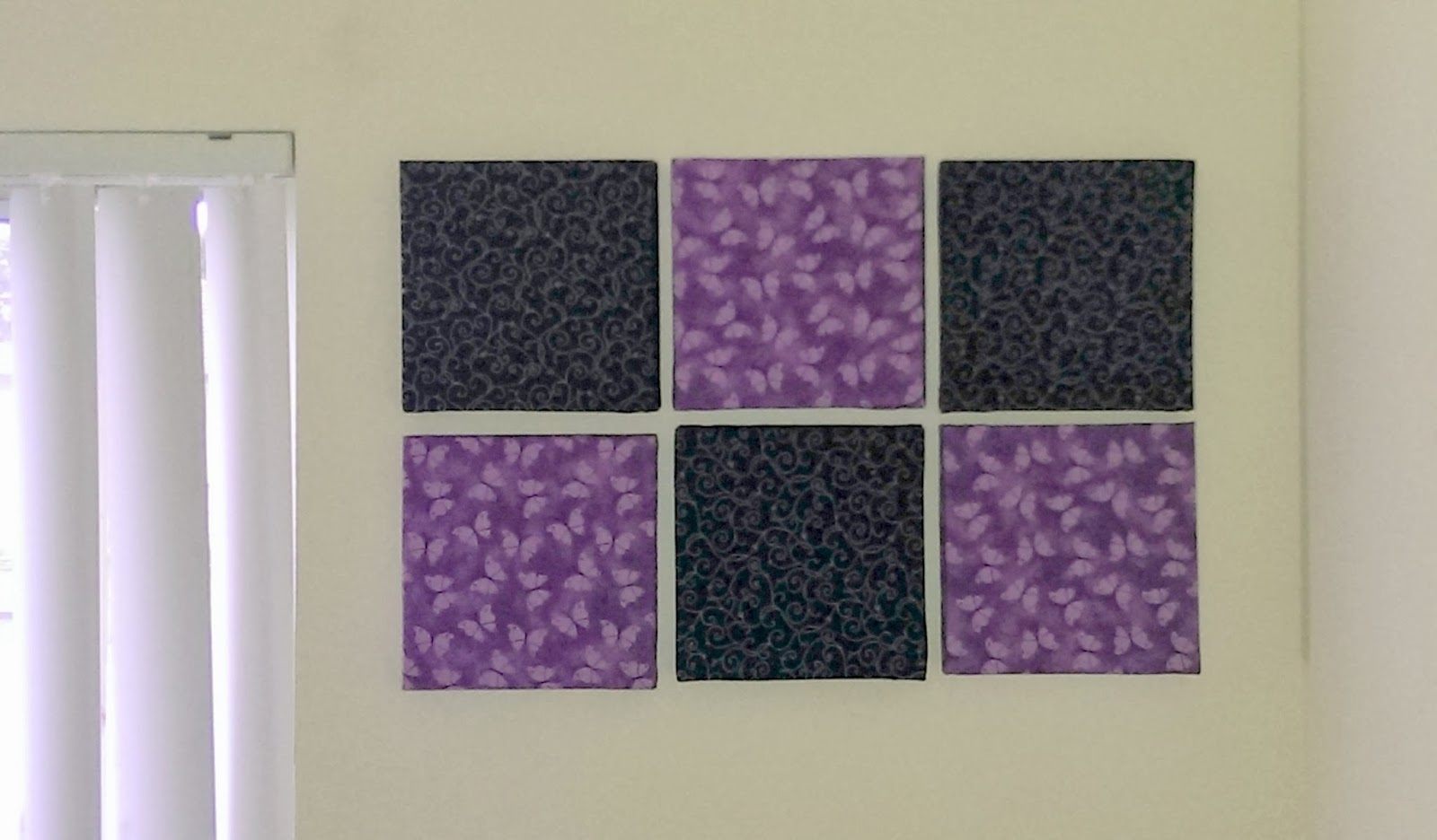 Diy Addiction: Wall Art - Fabric Covered Canvas within Latest Purple Fabric Wall Art