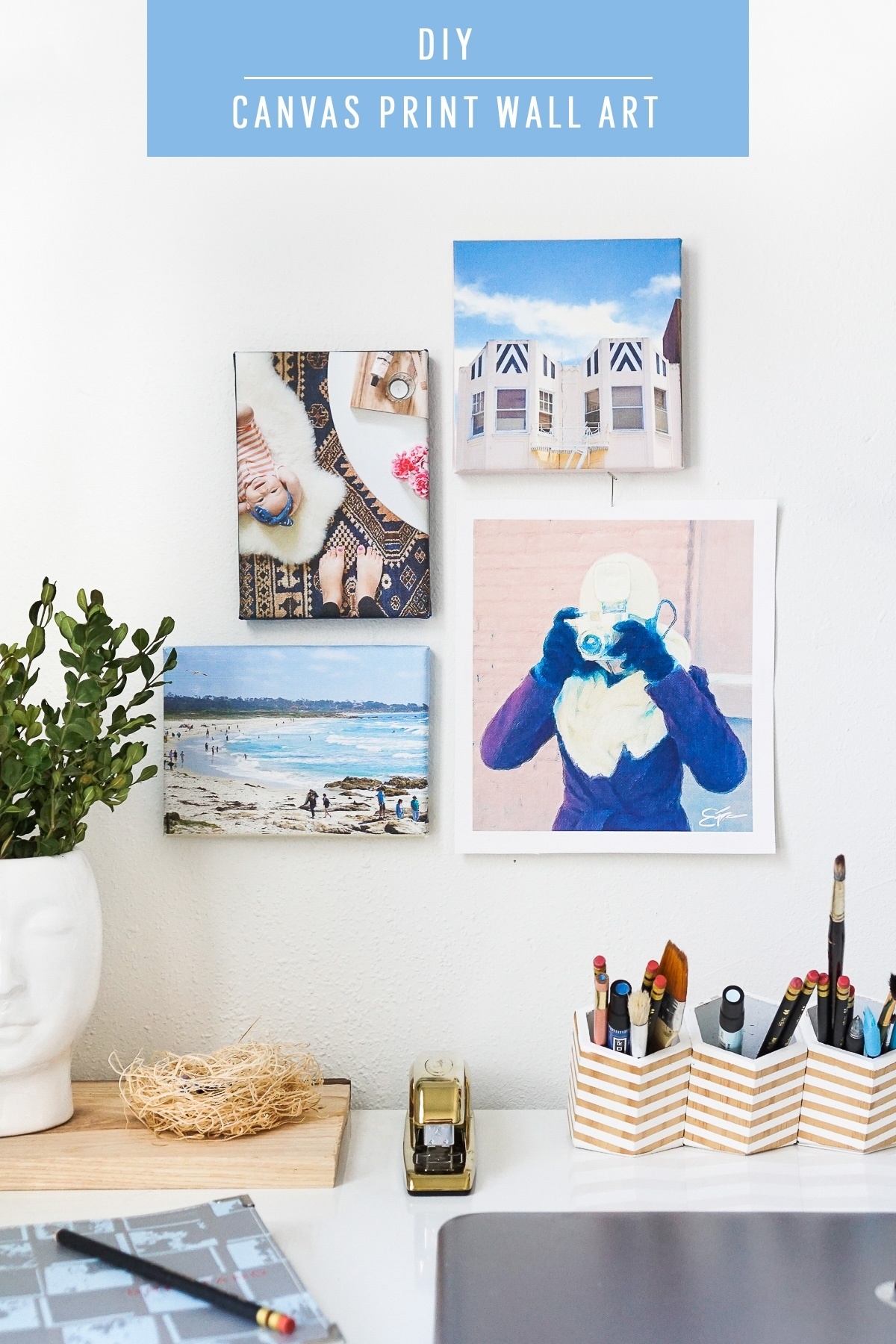 Diy Canvas Print Wall Art | Sugar & Cloth Intended For Recent Diy Canvas Wall Art (View 4 of 15)