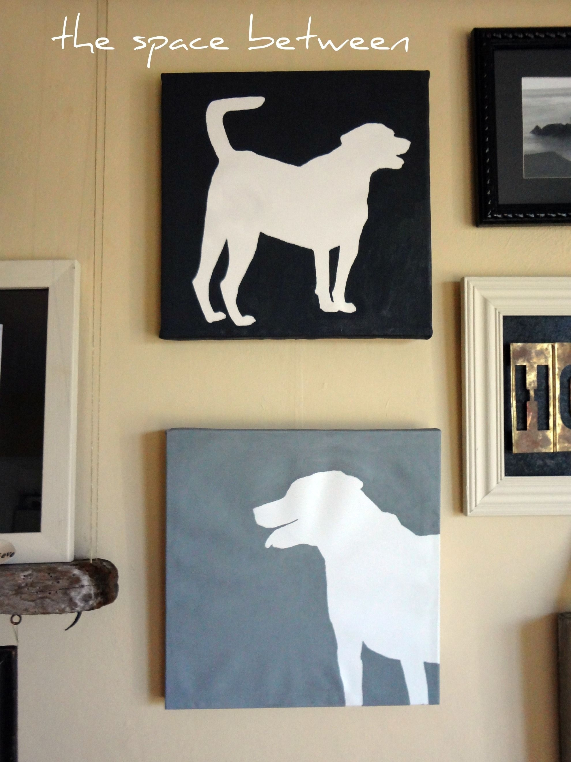 Diy Canvas Silhouettes {The Final Steps | Canvas Silhouette Regarding Most Recently Released Dogs Canvas Wall Art (View 10 of 15)