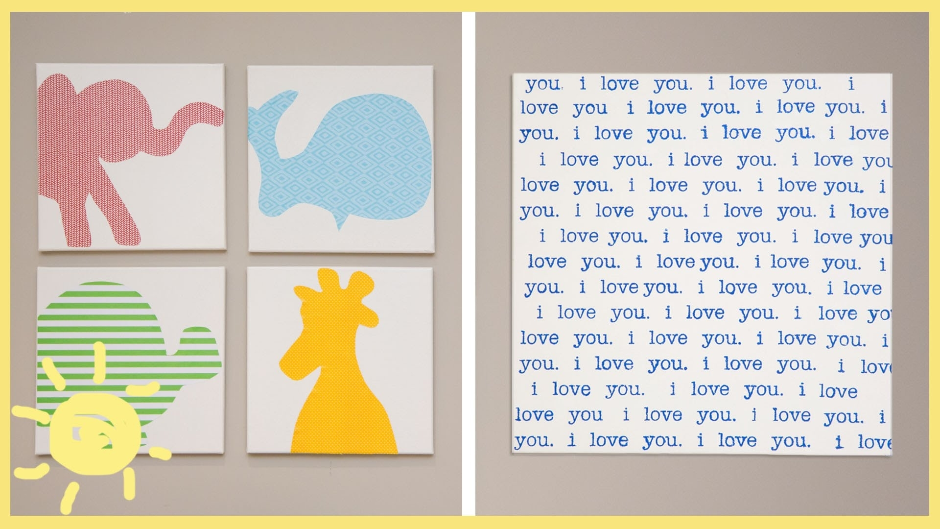 Diy | Canvas Wall Art – Youtube For Most Popular Baby Room Canvas Wall Art (View 9 of 15)