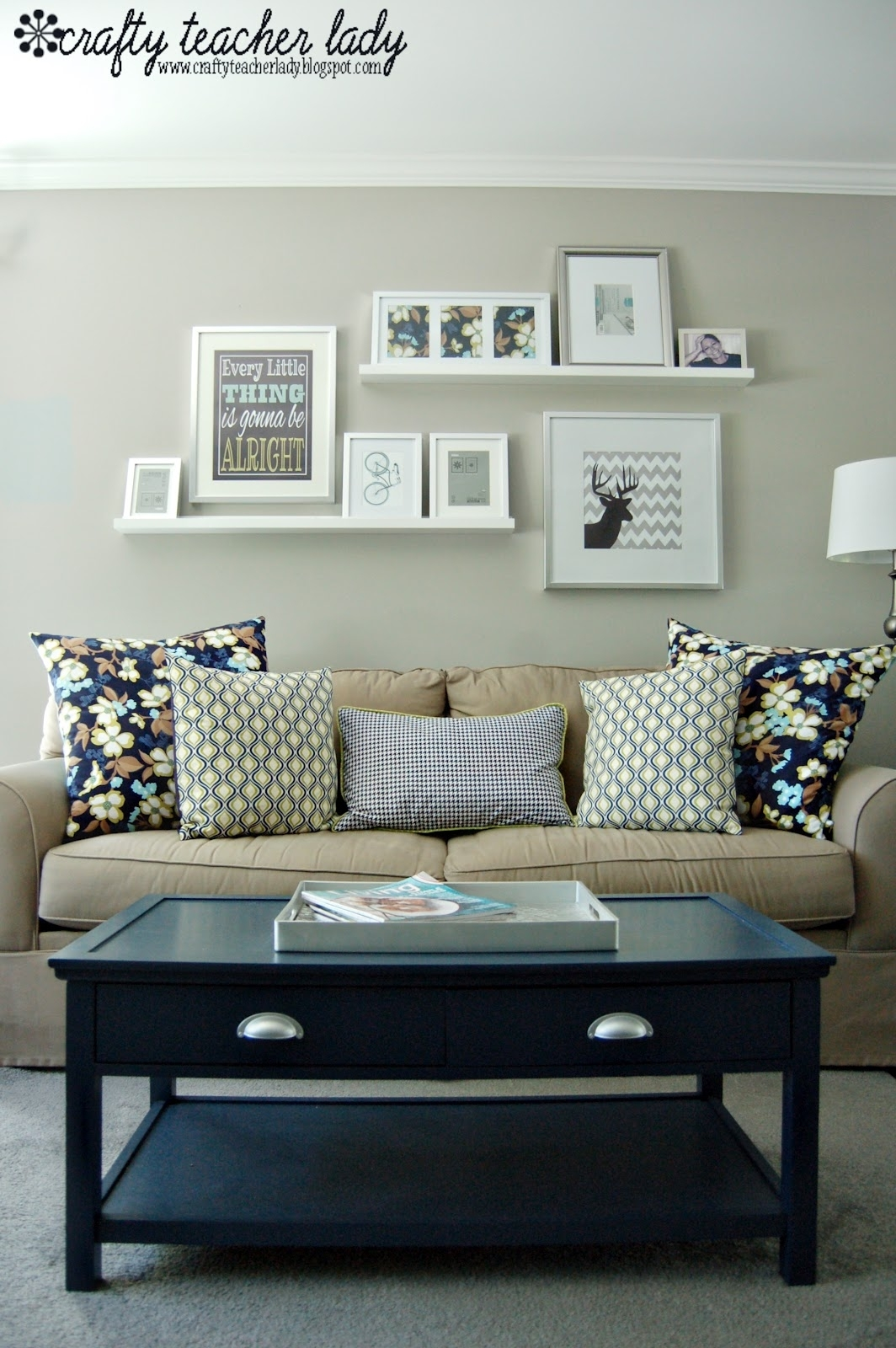 Diy - Coffee Table Makeover Using Starless Nightbehr Ultra pertaining to Current Wall Accents Behind Tv Or Couch