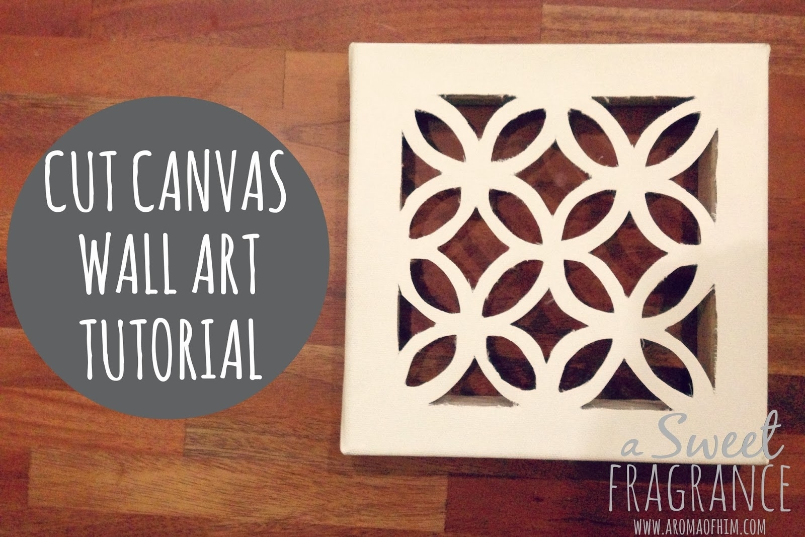 Diy Cut Canvas Wall Art That Looks Expensive But Is Cheap To Make With 2018 Diy Canvas Wall Art (View 8 of 15)