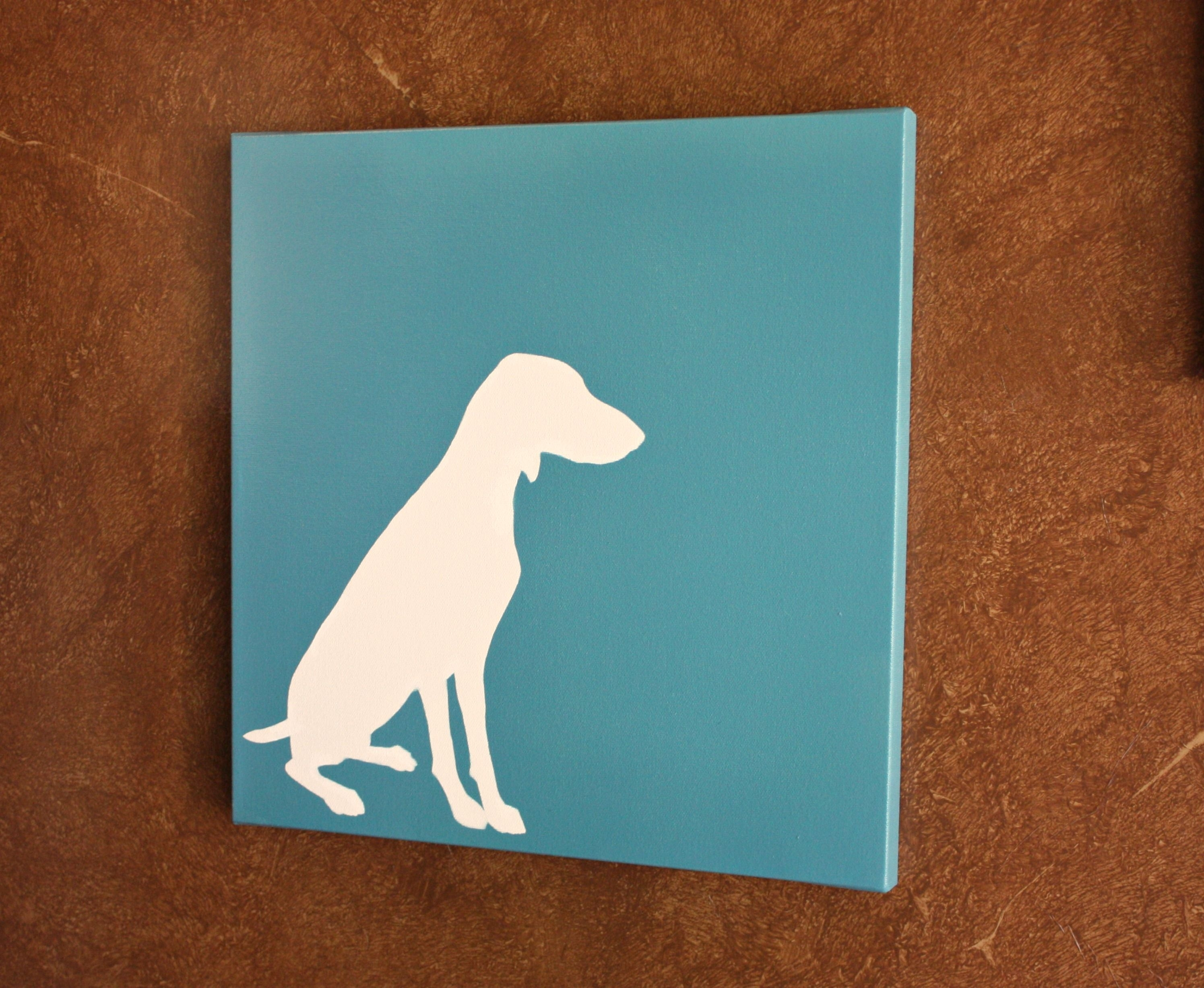 Diy Dog Silhouette Art | Silhouettes, Tutorials And Creativity With Best And Newest Dogs Canvas Wall Art (View 11 of 15)