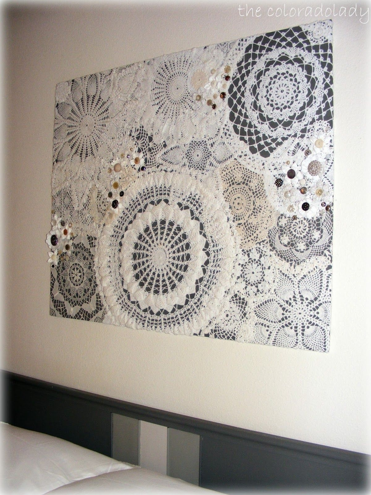 Diy Doily Craft Ideas | Walls, Doilies Crafts And Vintage Inside Most Up To Date Fabric Wall Art Patterns (View 2 of 15)
