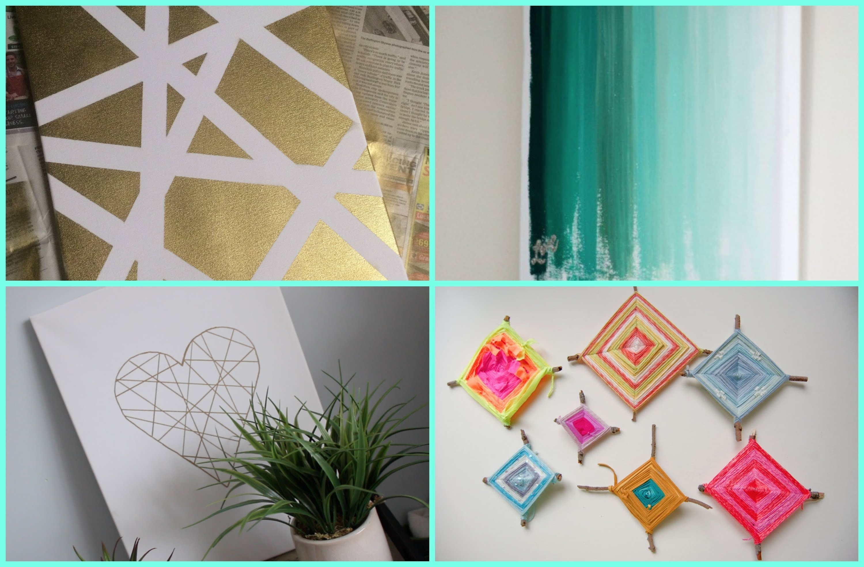 Diy Dorm Room Decor: Wall Art – Youtube For Newest Diy Wall Accents (View 7 of 15)