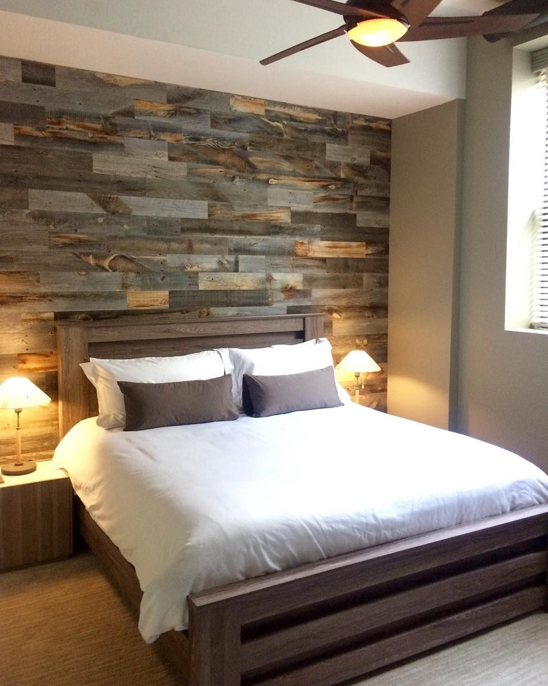 Diy Easy Peel And Stick Wood Wall Decor | Pallets, Square Feet And Throughout Most Current Wall Accents With Pallets (Gallery 15 of 15)