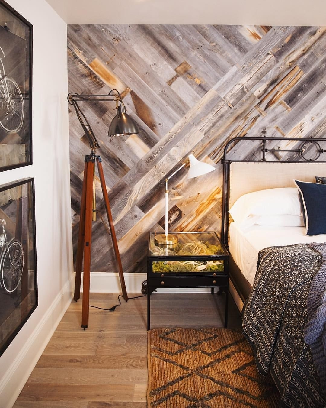 Diy Easy Peel And Stick Wood Wall Decor | Wood Walls, Reclaimed Throughout Latest Wood Pallets Wall Accents (Gallery 15 of 15)