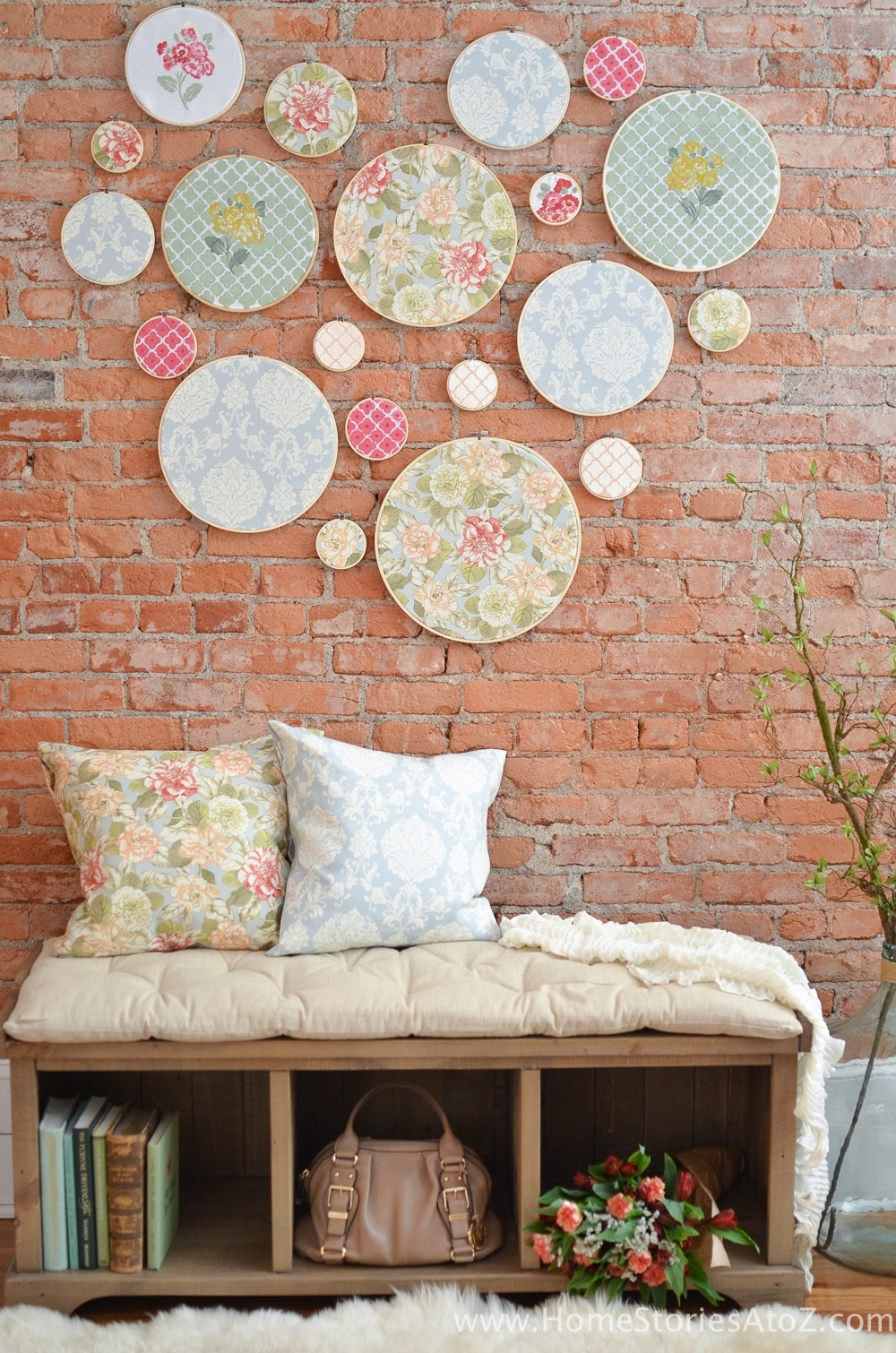 Diy Embroidery Hoop Wall Art – Home Stories A To Z Inside Recent Fabric Hoop Wall Art (View 5 of 15)
