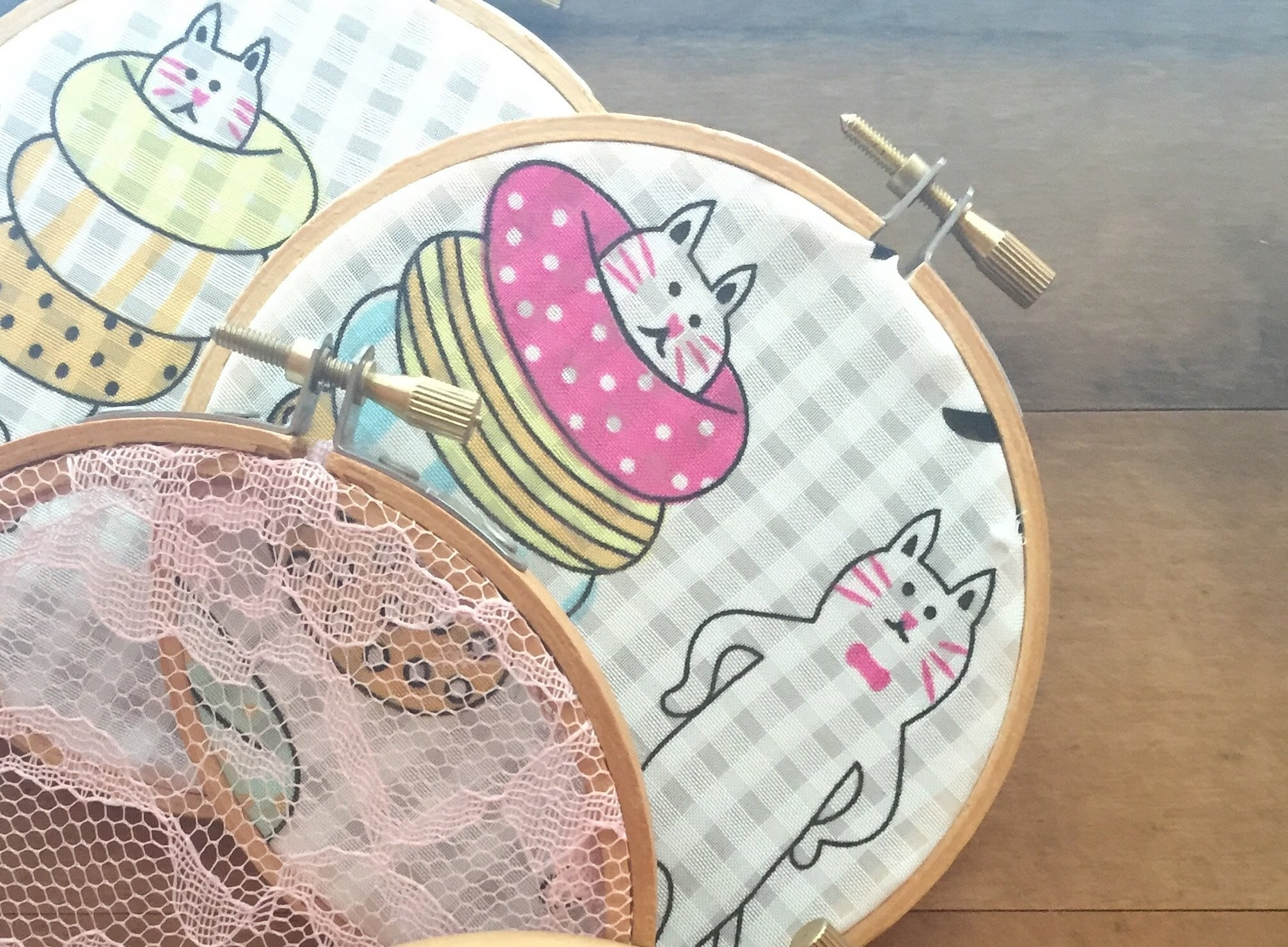 Diy – Fabric Embroidery Hoop Wall Art | Easy & Simple Tutorial For Most Current Fabric Hoop Wall Art (View 4 of 15)