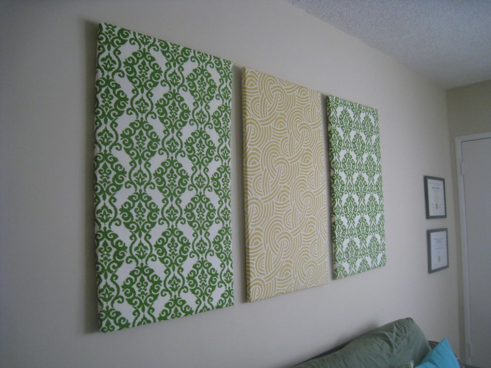 Diy Fabric Wall Art | Crafting Is Sanity inside Latest Fabric Covered Foam Wall Art