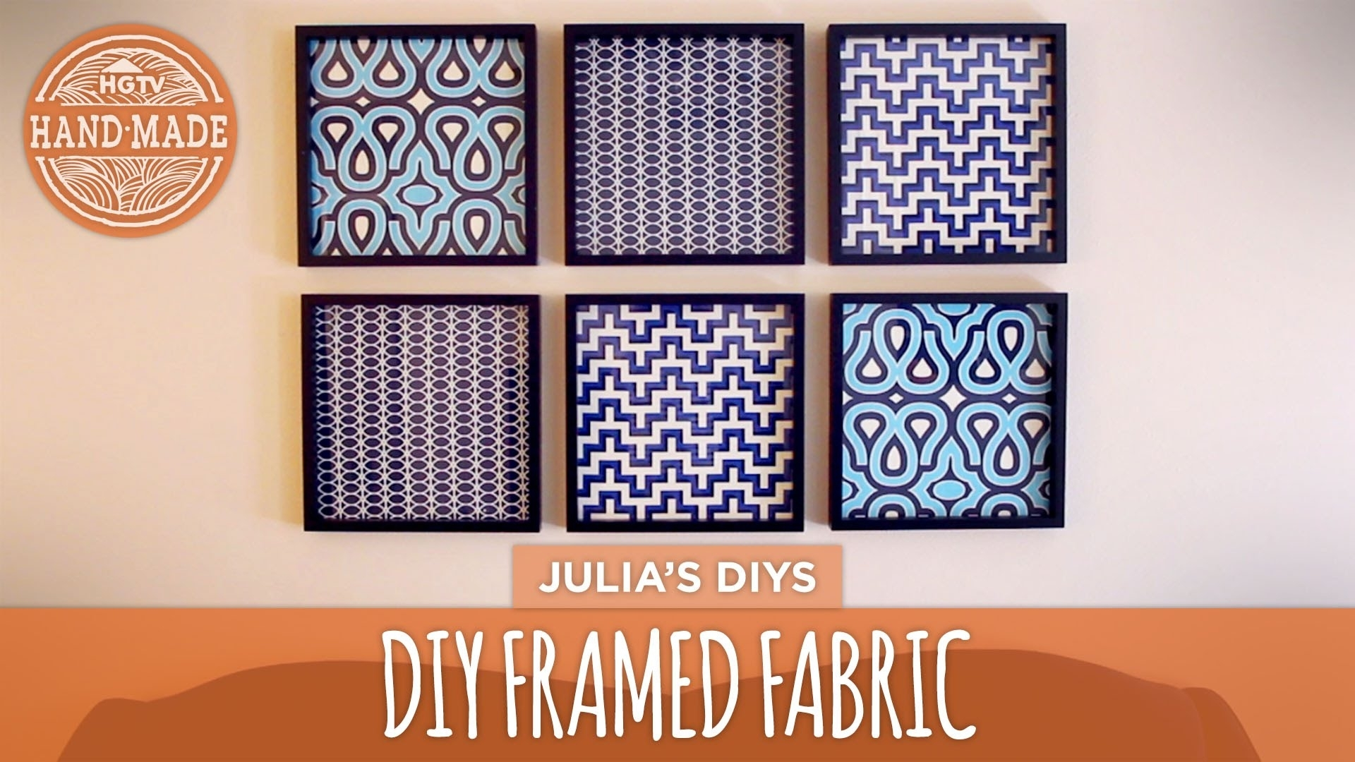 Diy Framed Fabric Gallery Wall – Hgtv Handmade – Youtube Within Most Up To Date Diy Framed Fabric Wall Art (Gallery 1 of 15)