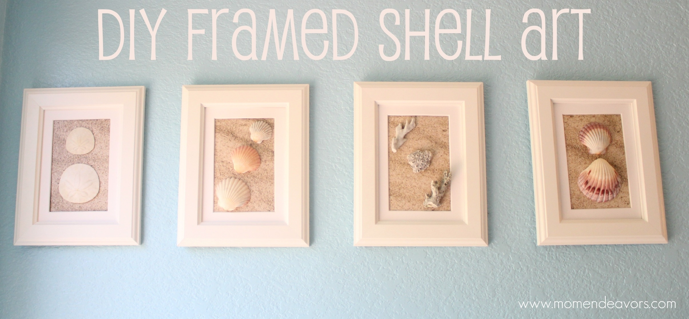 Diy Framed Shell Art Pertaining To Best And Newest Framed Art Prints For Bathroom (View 7 of 15)