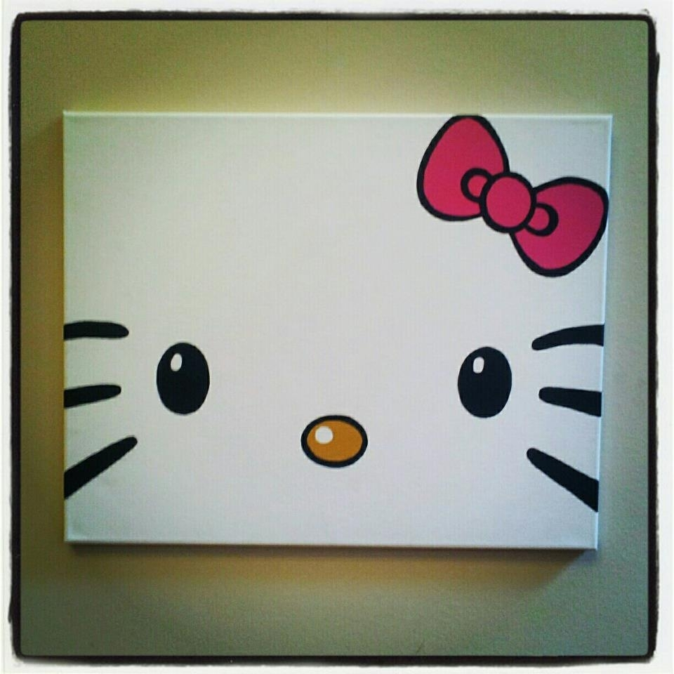 Diy Hello Kitty Canvas Paintingtotally Making This For My In Most Recent Hello Kitty Canvas Wall Art (View 3 of 15)