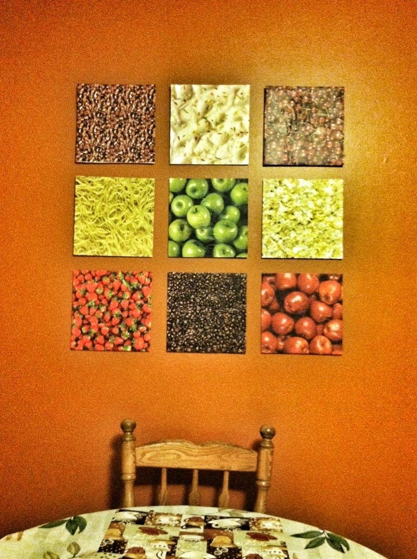 Diy Kitchen Wall Art – Dollar Tree Foam Board, Scrapbook Paper With Regard To Latest Foam Board Fabric Wall Art (Gallery 7 of 15)