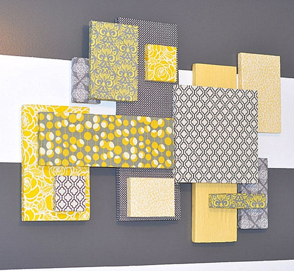 Diy Projects: Styrofoam And Fabric Diy Wall Art – 25 Diy Wall Art Inside Most Popular Styrofoam And Fabric Wall Art (Gallery 9 of 15)