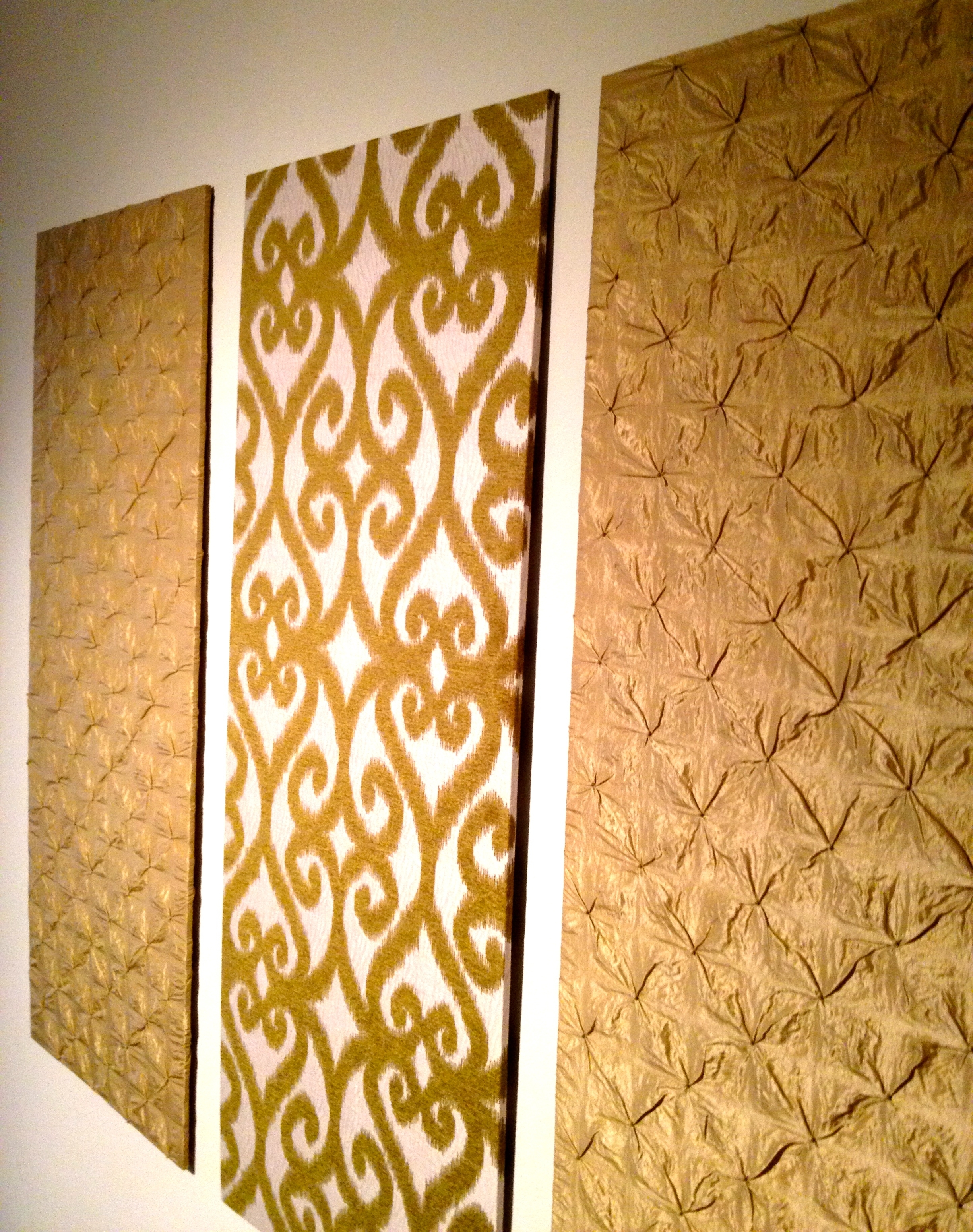 Diy Upholstered Wall Panels | Home Ideas | Pinterest | Upholstered In Most Recent Diy Fabric Wall Art Panels (View 15 of 15)