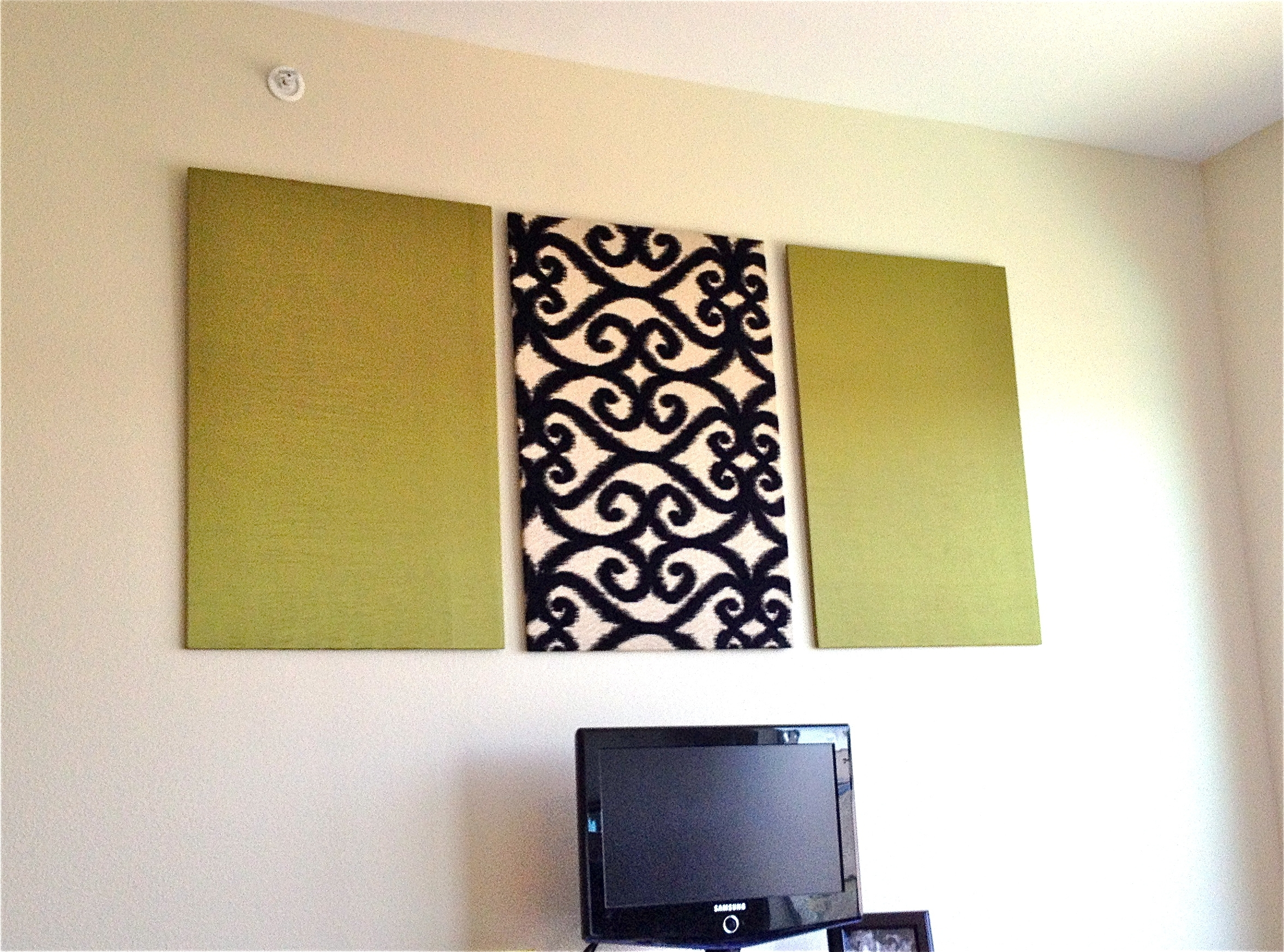 Diy Upholstered Wall Panels | Home Ideas | Pinterest | Upholstered With Regard To Newest Ikat Fabric Wall Art (View 6 of 15)