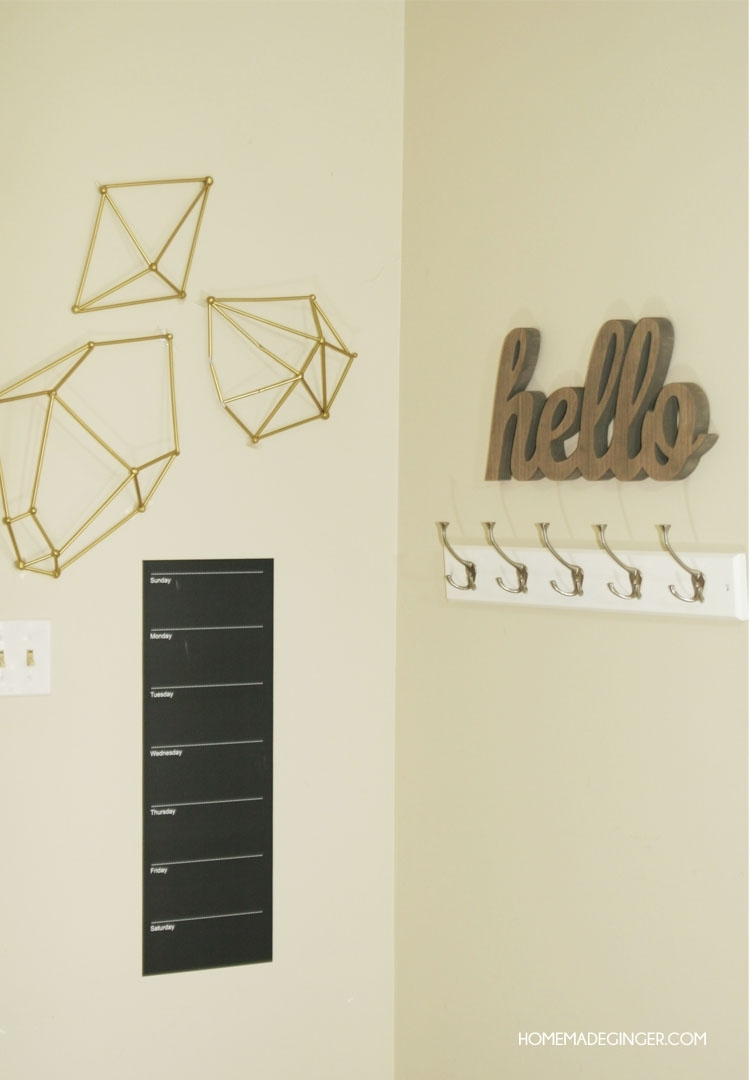 Diy Wall Art : Geometric Straw Shapes – Homemade Ginger Within Newest Geometric Shapes Wall Accents (View 4 of 15)