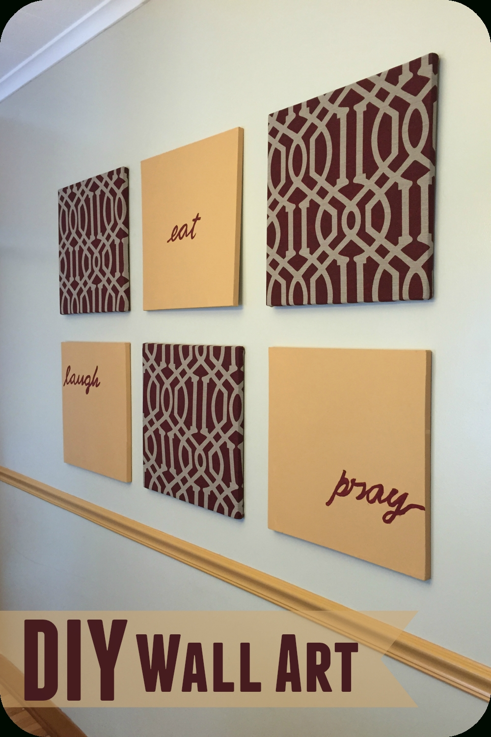Diy} Wall Canvas Artwork {made For Under $ (View 7 of 15)