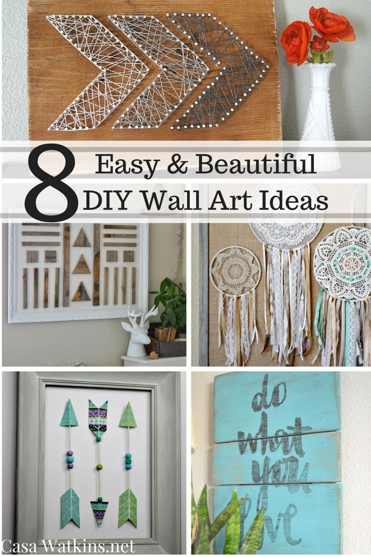 Diy Wall Decor Pinterest Small Wall Decor Ideas Inexpensive Wall regarding Recent Inexpensive Fabric Wall Art