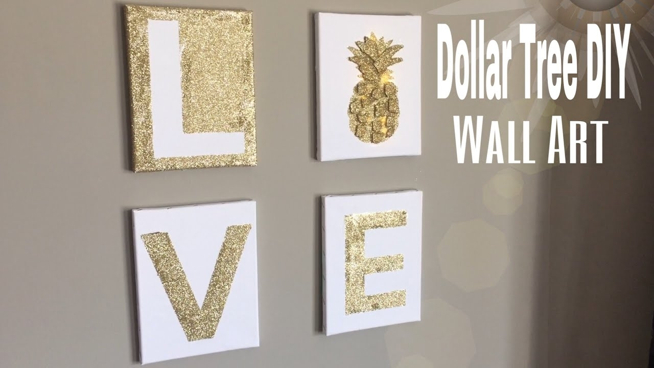 Dollar Tree Wall Art Diy | Diy Bedroom Wall Decor| Diy Office Wall In Newest Diy Wall Accents (Gallery 9 of 15)