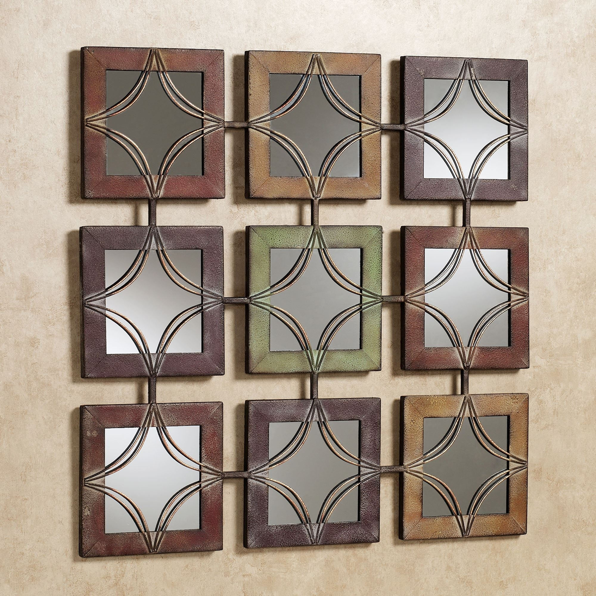 Domini Mirrored Metal Wall Art Inside Latest Metal Wall Accents (View 3 of 15)