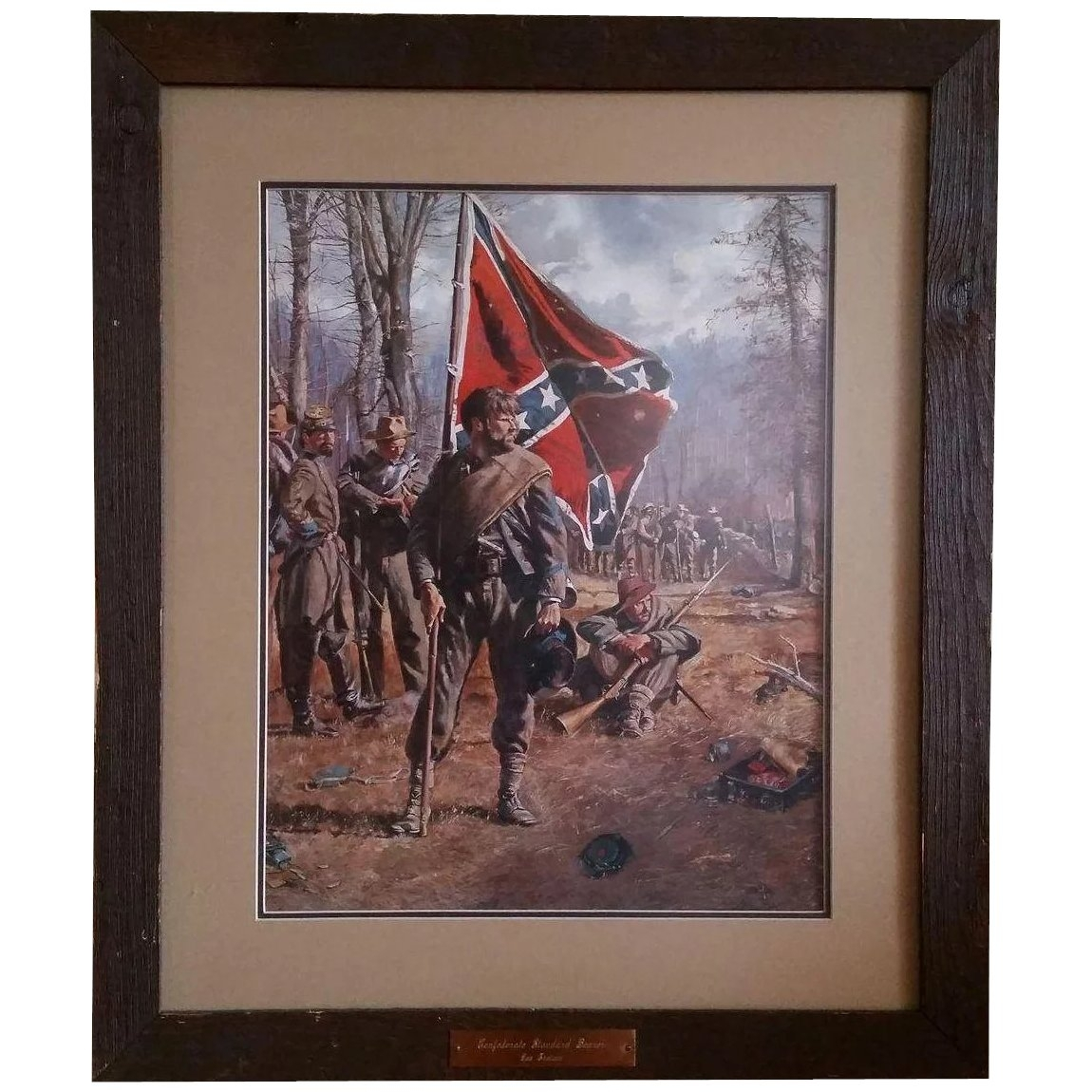 """Don Troiani Print """"confederate Standard Bearer"""" : Ruff Acres Regarding Most Recently Released Confederate Framed Art Prints (View 7 of 15)"""