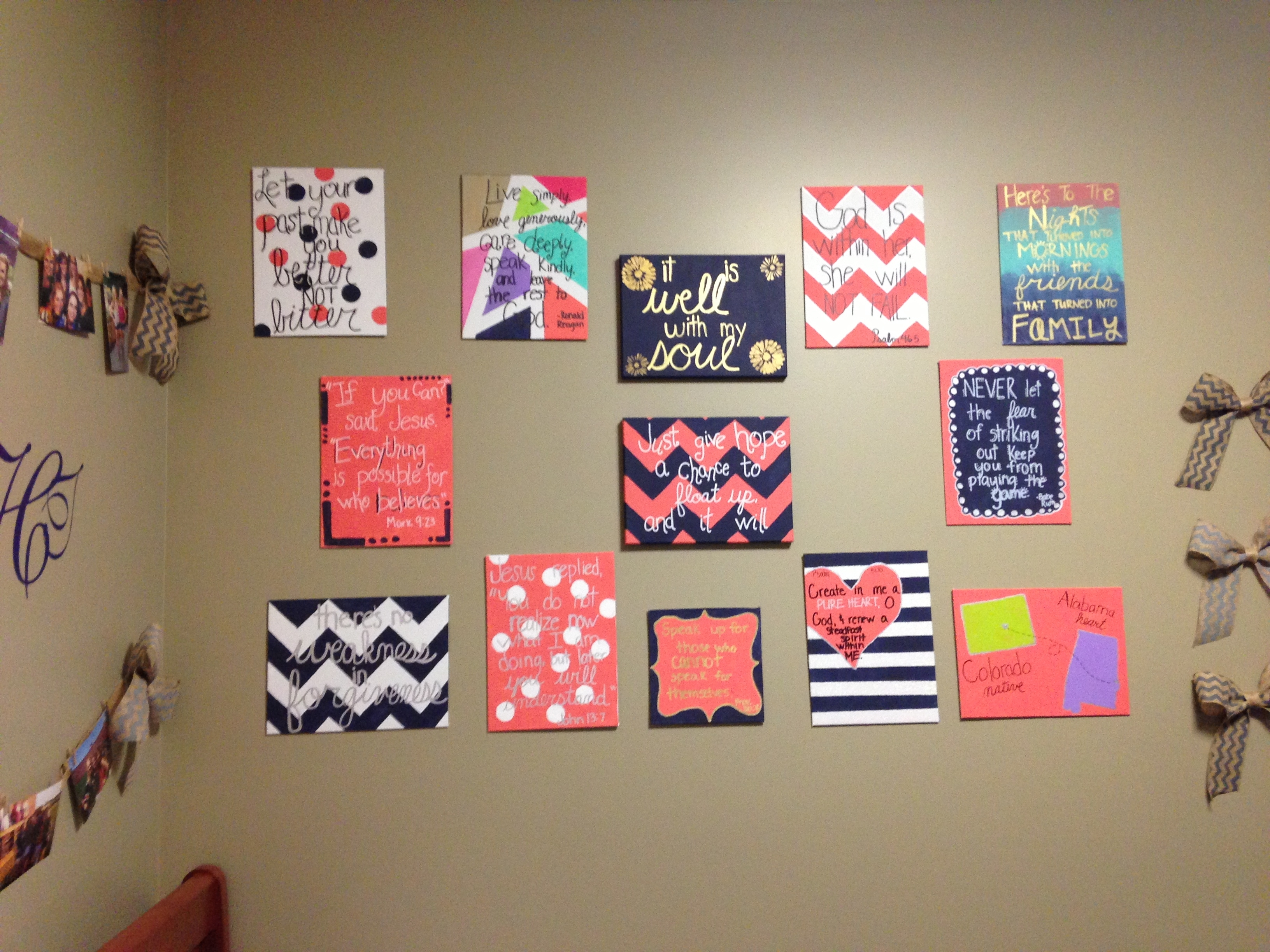 Dorm Room Decor.. Simple, Easy, Yet Looks Expensive! Really Proud Regarding Most Current Canvas Wall Art For Dorm Rooms (Gallery 5 of 15)