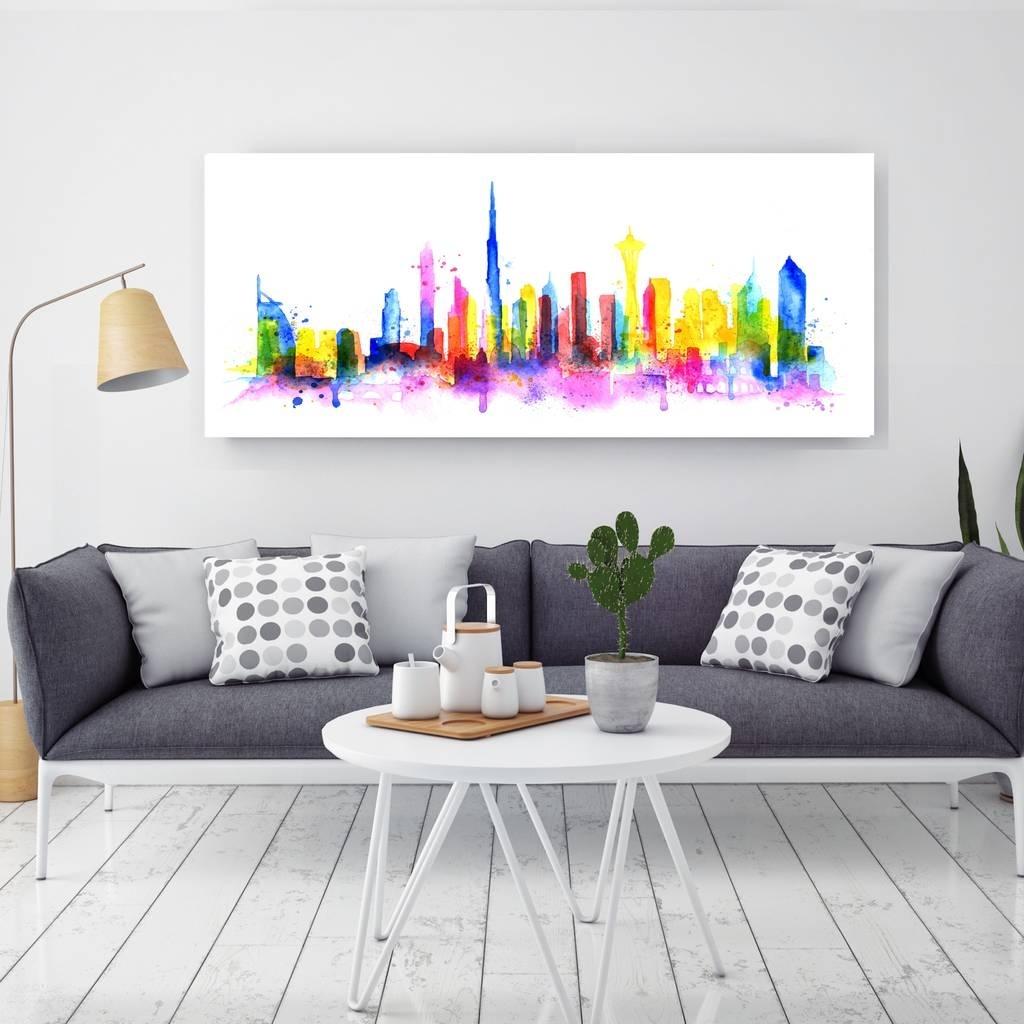 Dubai, Canvas Arthoxton Art House | Notonthehighstreet With Regard To Latest Dubai Canvas Wall Art (View 13 of 15)