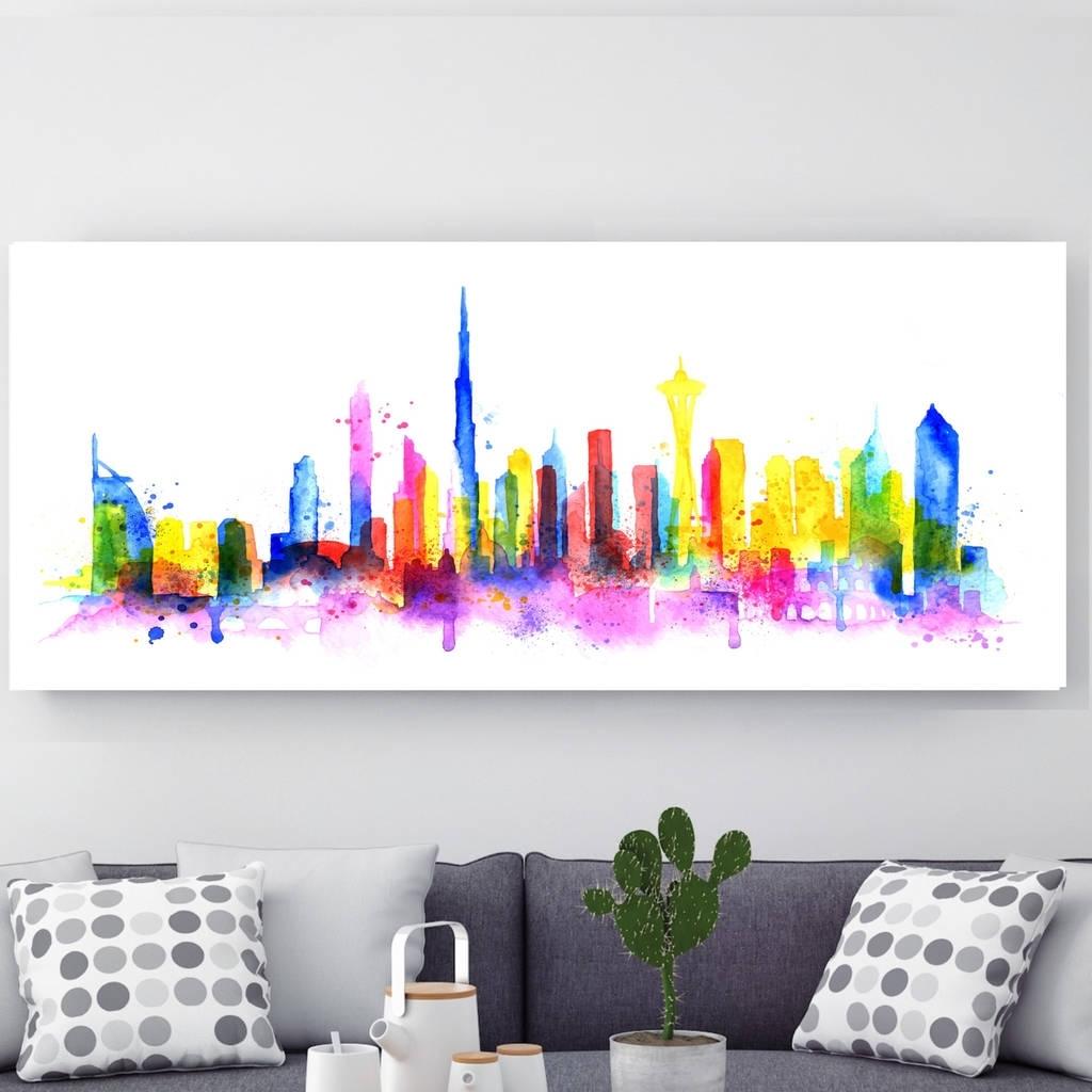 Dubai, Canvas Arthoxton Art House | Notonthehighstreet Within Most Popular Dubai Canvas Wall Art (View 10 of 15)