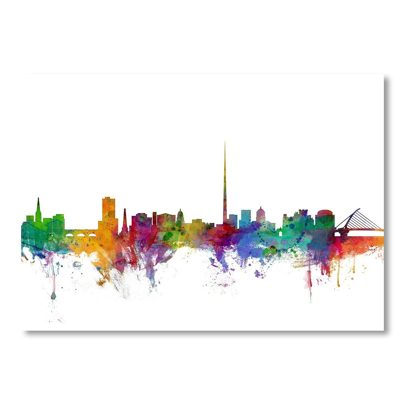 Dublin Ireland Skyline Wall Mural | Products | Pinterest | Dublin For Newest Dublin Canvas Wall Art (View 10 of 15)