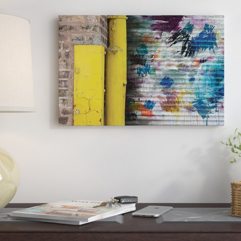 """East Urban Home """"garage Door""""kent Youngstrom Wall Art On Pertaining To Current Kent Canvas Wall Art (View 3 of 15)"""